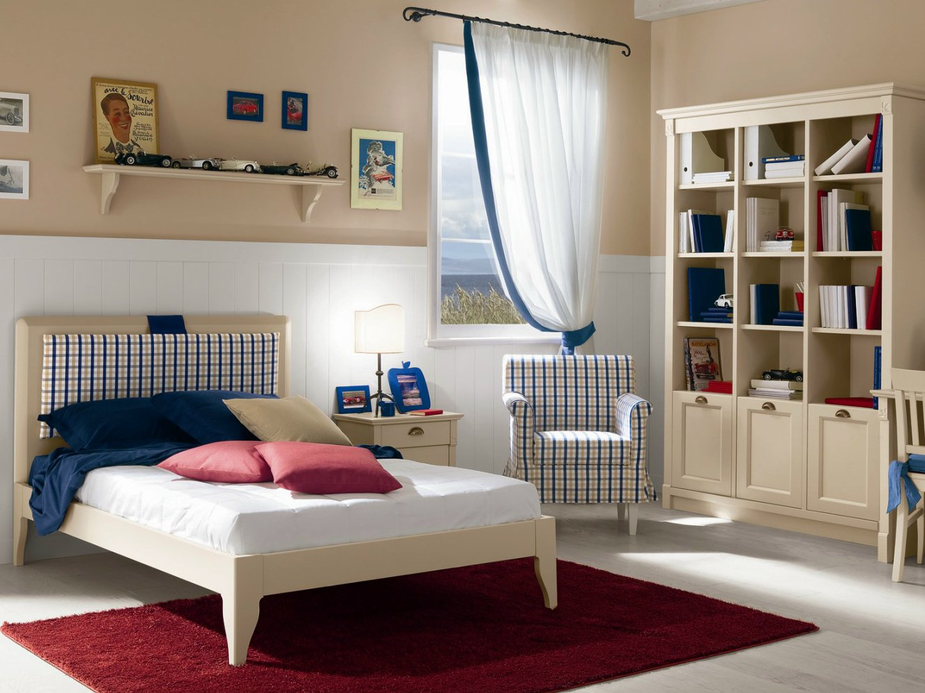 Wooden teenage bedroom for boys girls ROMANTIC Composition