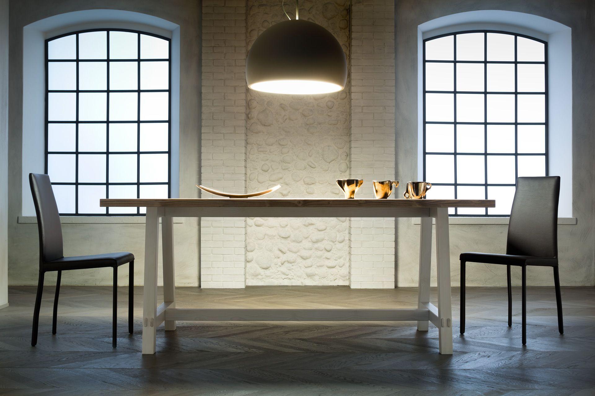 Tavolo da pranzo rettangolare in legno new fratino by for Af arredamenti