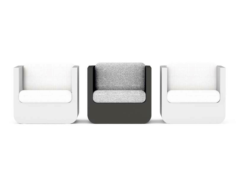 ulm poltrona by vondom design ram n esteve. Black Bedroom Furniture Sets. Home Design Ideas