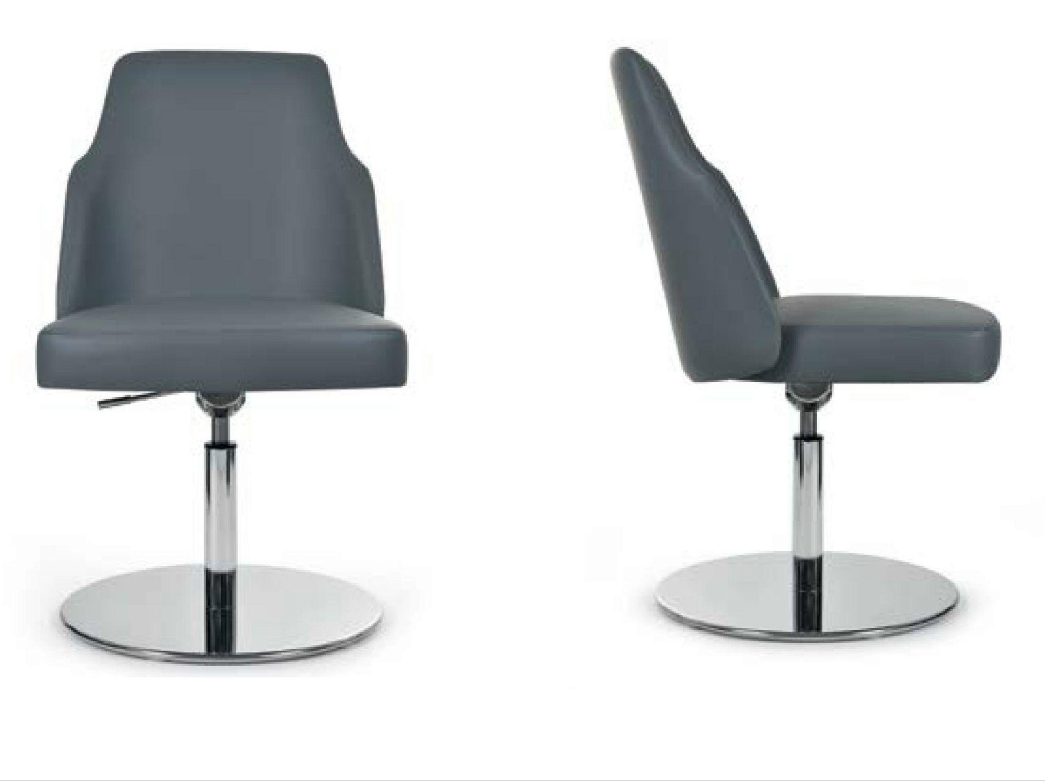 Mia round sedia girevole by riccardo rivoli design for Sedia girevole
