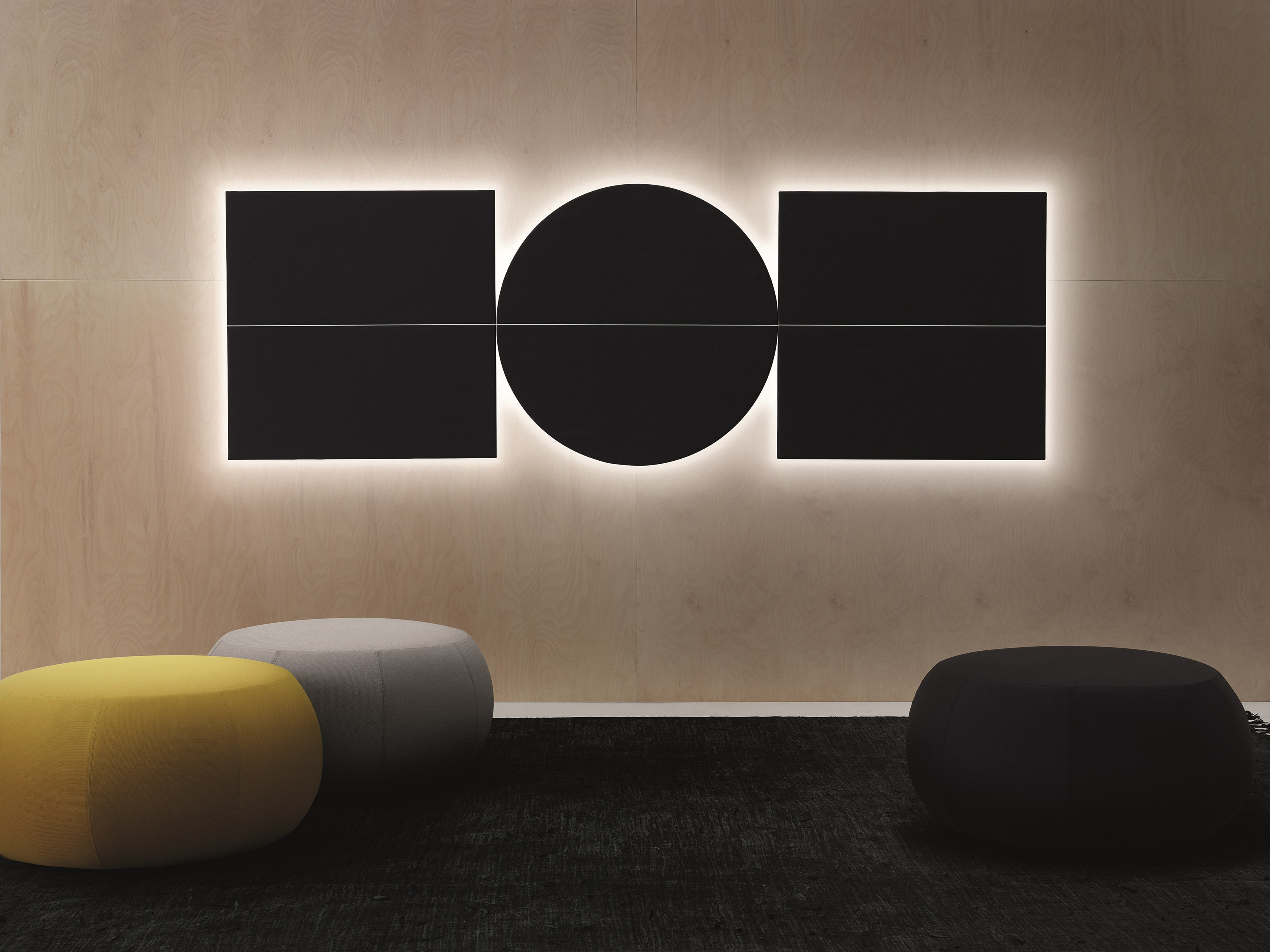 Decorative acoustical panels parentesit by arper design lievore altherr molina - Decorative acoustic wall panels ...
