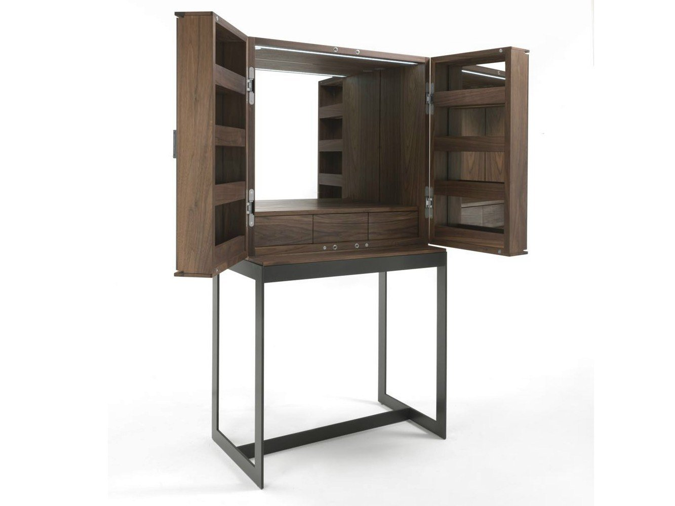 Walnut dressing table fly vanity by riva 1920 design for Ideal meuble catalogue