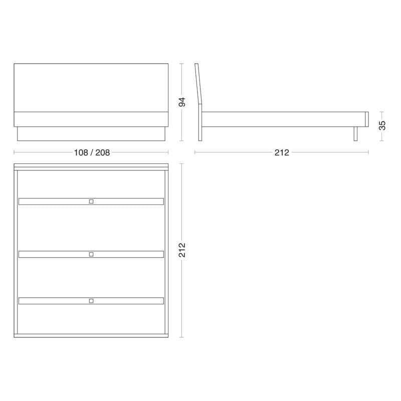 natura 3 doppelbett by riva 1920 design maurizio riva davide riva. Black Bedroom Furniture Sets. Home Design Ideas