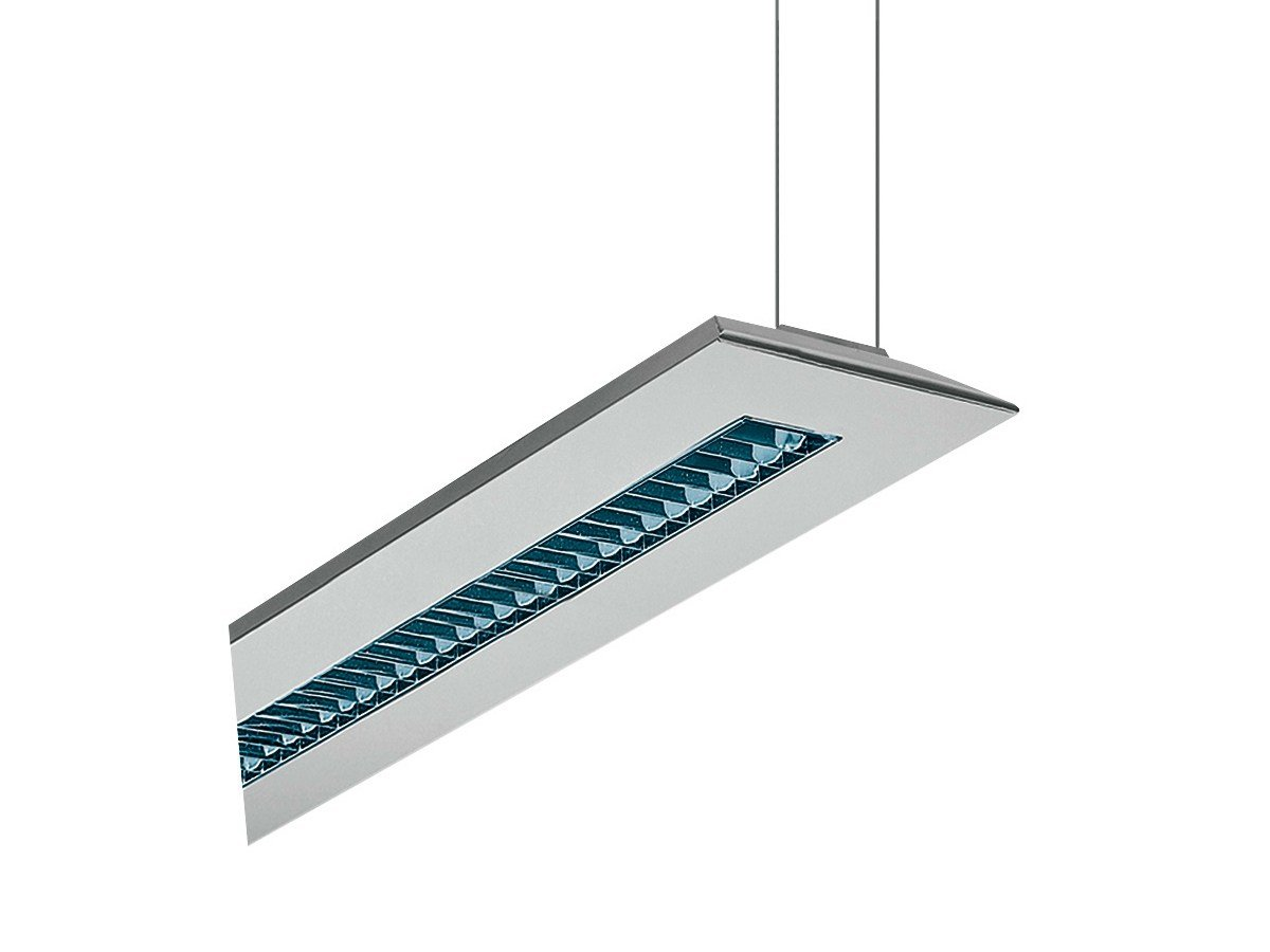Direct light aluminium pendant lamp LIGHT AIR by iGuzzini Illuminazione design Bruno Gecchelin