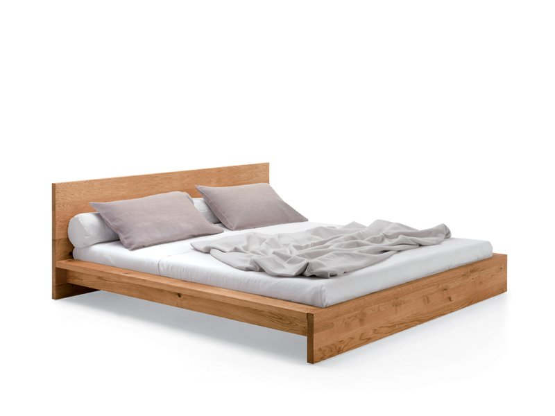 Base Lit Double En Bois : Double Bed Frame