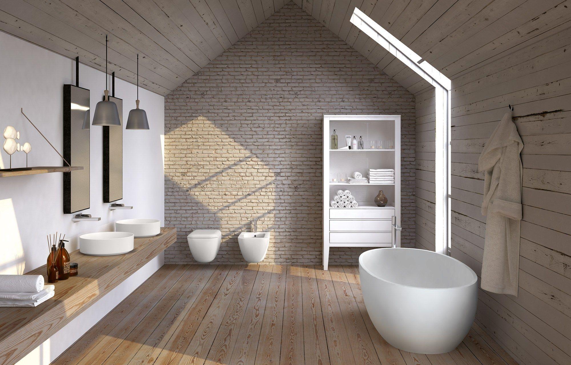 Shui comfort vasca da bagno by ceramica cielo design paolo - Vasca da bagno in cemento ...