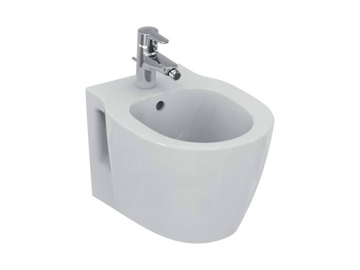Bidet sospeso in ceramica connect space e1190 by ideal for Architec bidet sospeso