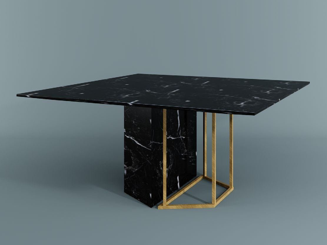 Plinto square table by meridiani design andrea parisio for Square dining table designs