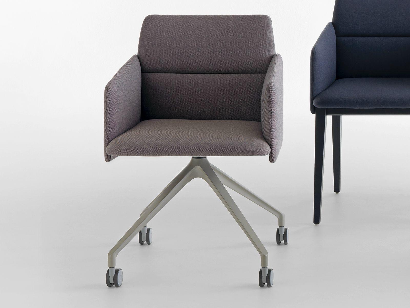 AURA Chair With Casters By Crassevig Design Mario Ferrarini