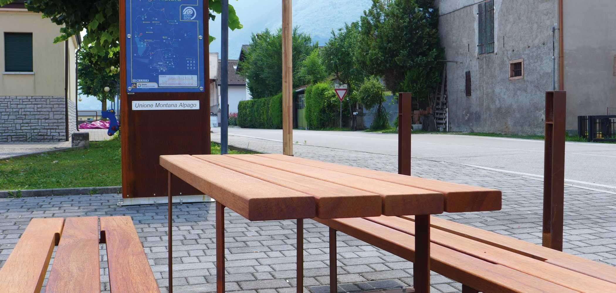 Tavolo da picnic rettangolare in legno pic bull by metalco - Tavolo pic nic legno ...