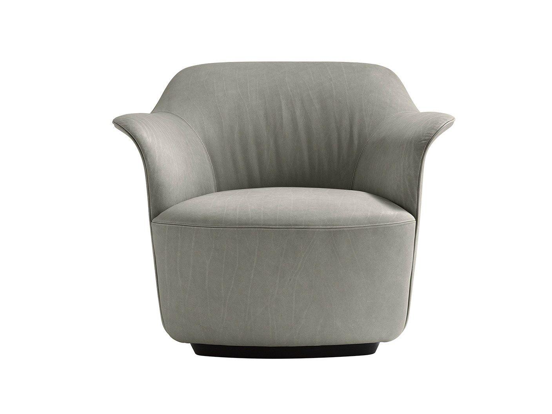poltrona con braccioli aida by poltrona frau design roberto lazzeroni. Black Bedroom Furniture Sets. Home Design Ideas