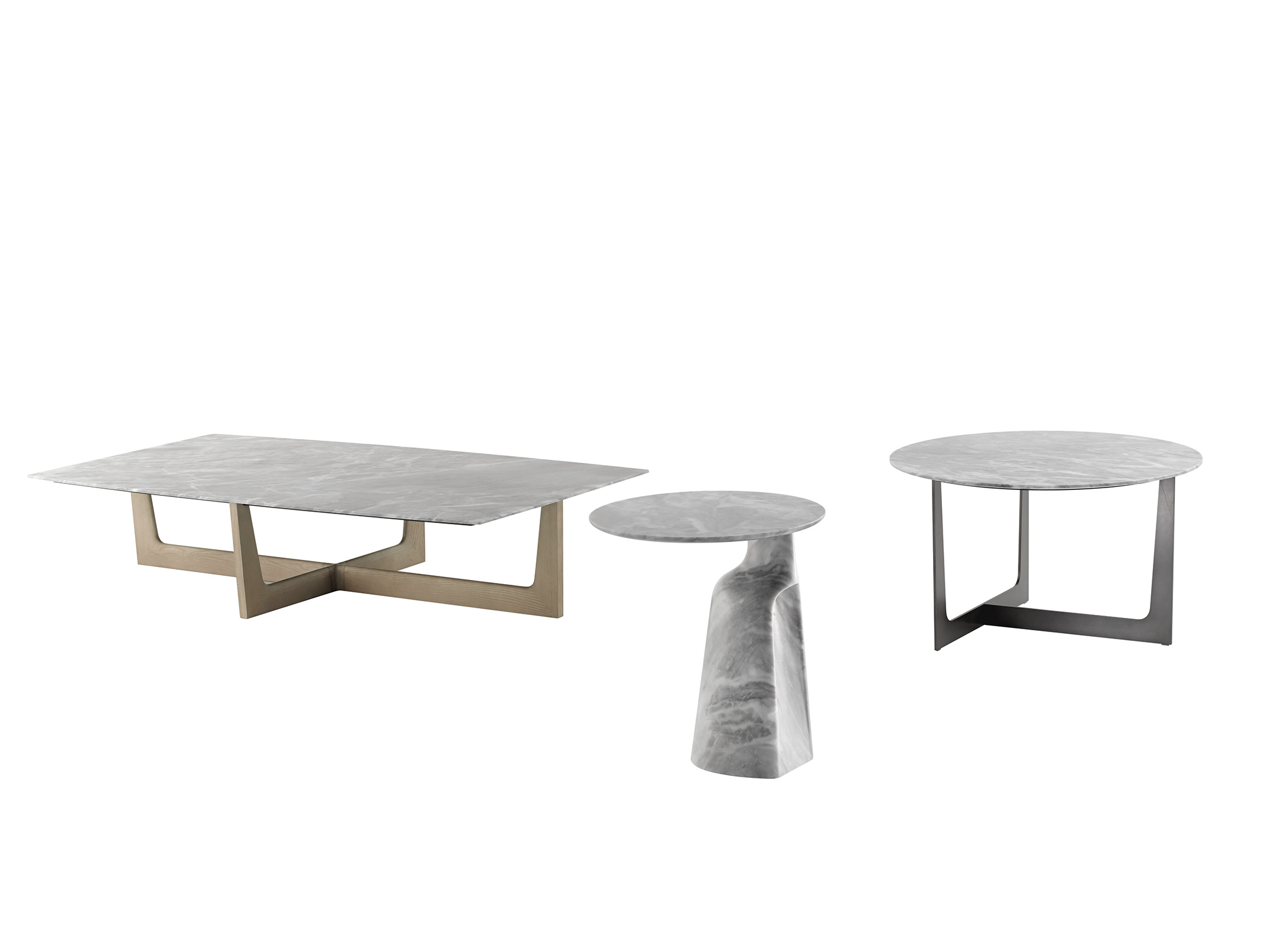 Ilary table basse en marbre by poltrona frau design jean for Table basse marbre