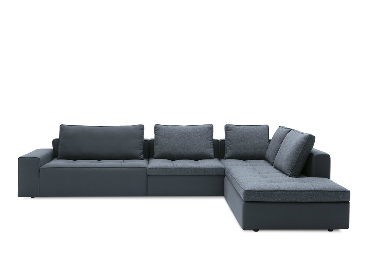Corner fabric sofa with chaise longue lounge mix 02 by for Chaise longue lounge