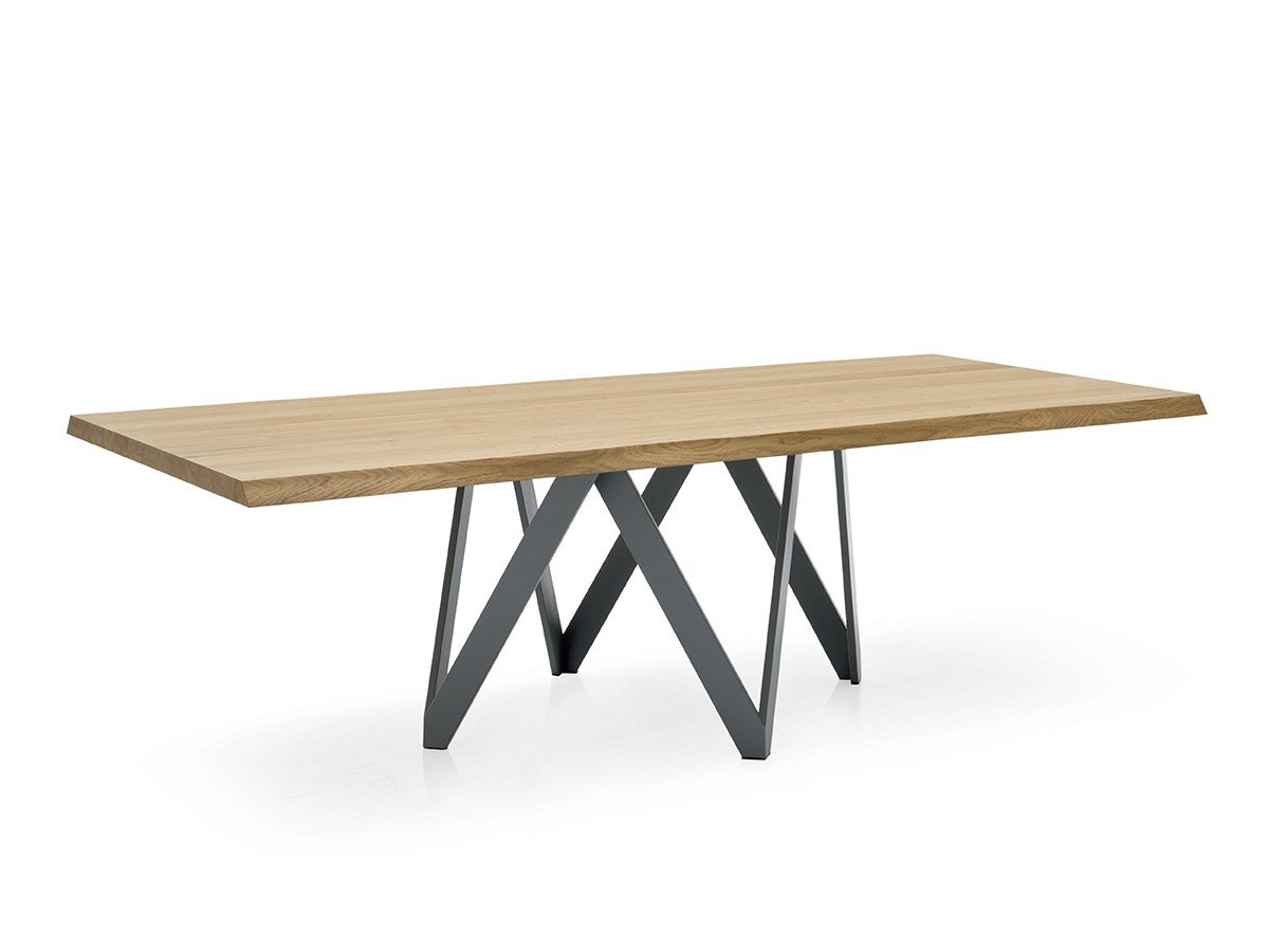 Table rectangulaire en placage de bois cartesio by for Table design jungle
