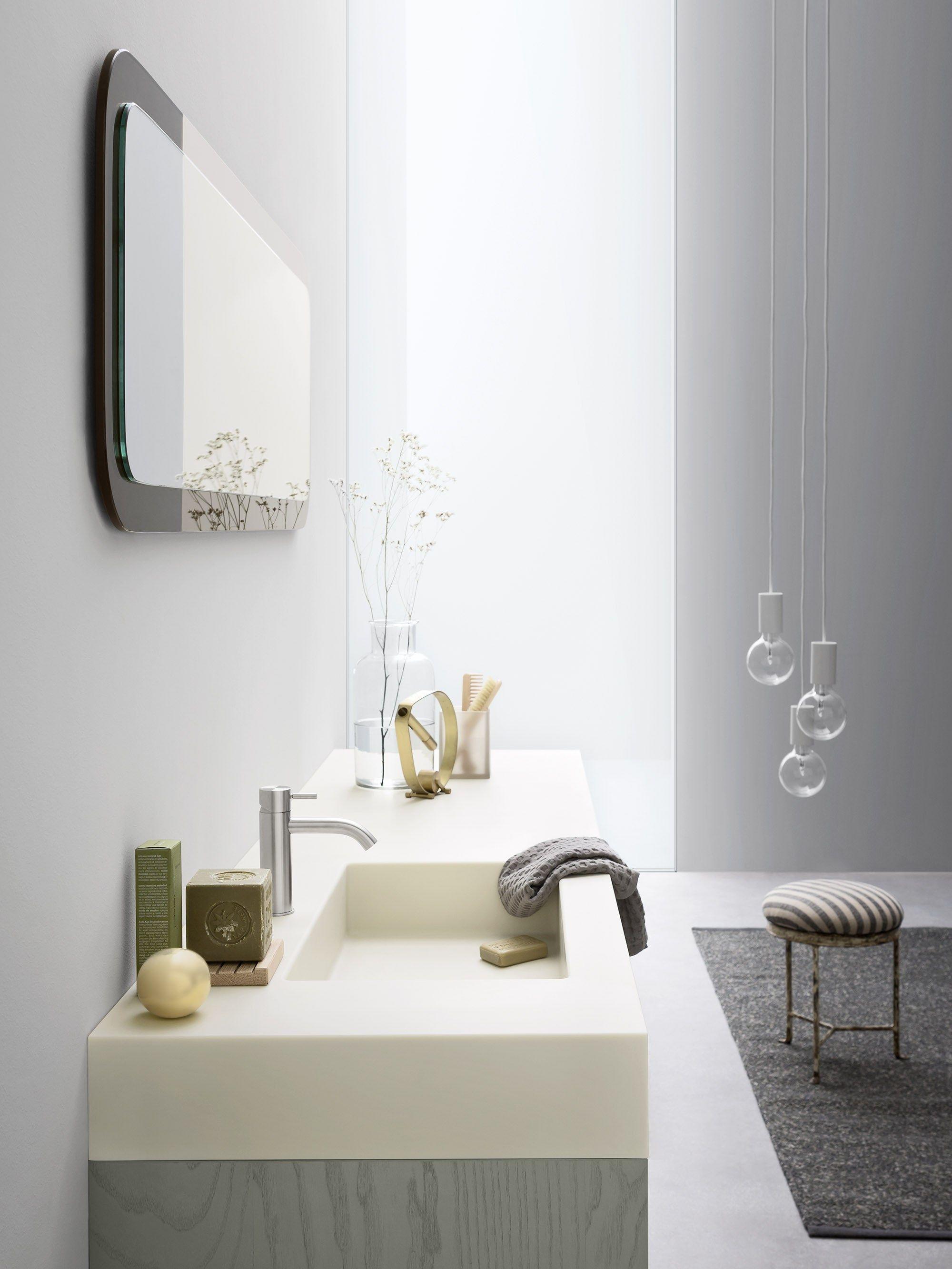 Bancada de lavatório de Corian® MOODE Bancada de lavatório de  #645F48 2000x2666 Bancada Banheiro Corian