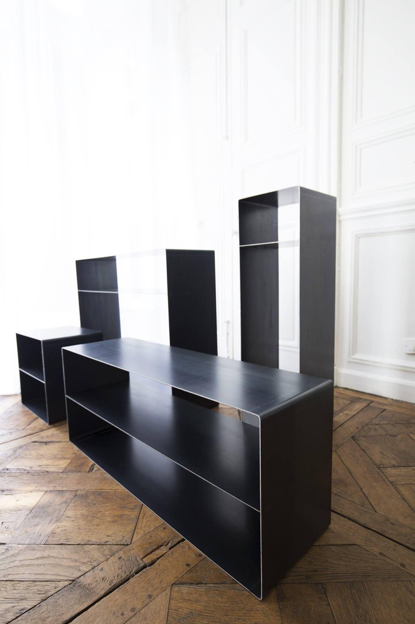 STEEL TV CABINET  SIDEBOARD LOW TV CABINET QUATTRO  -> Low Sideboard Tv Cabinet