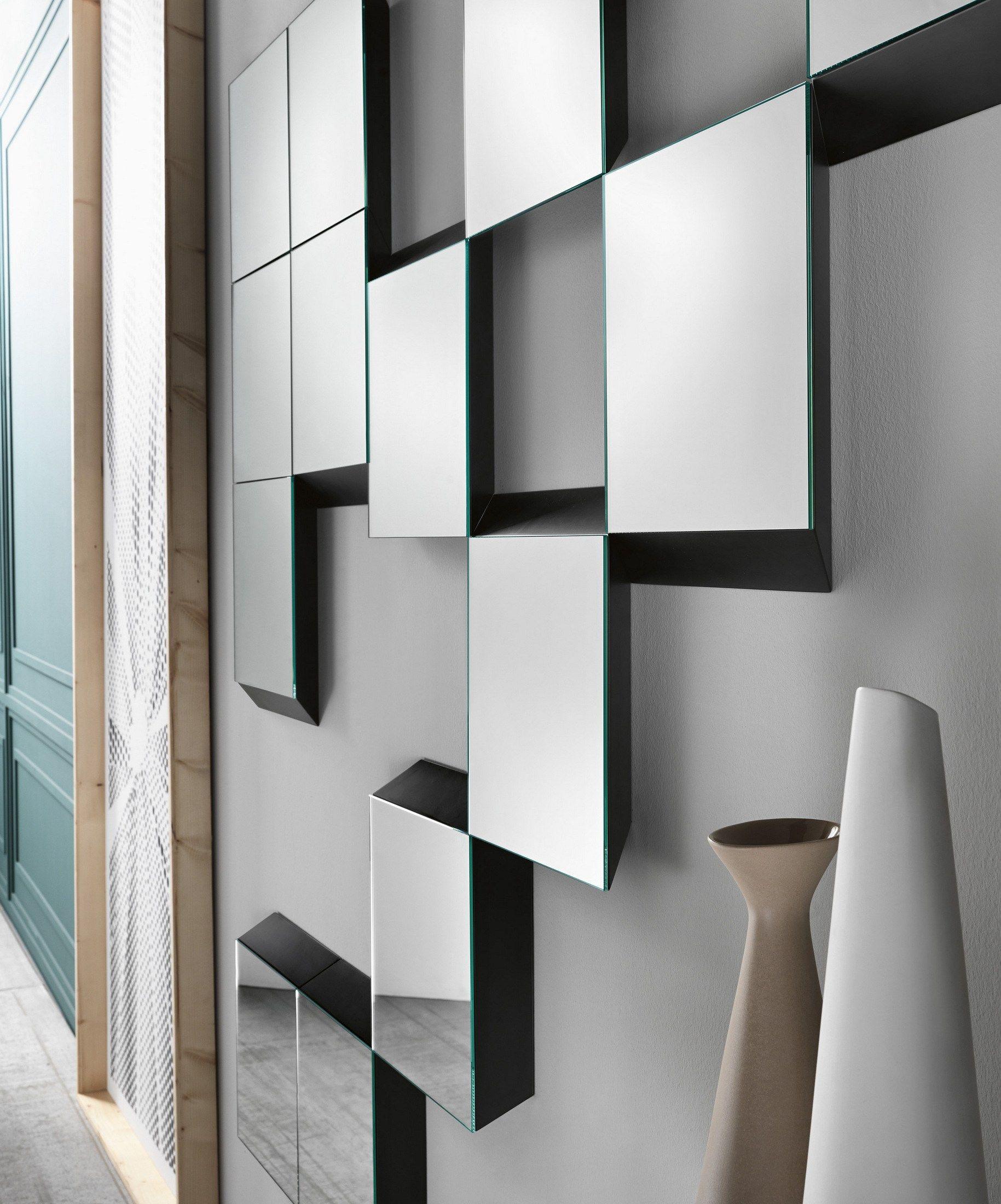 Specchio rettangolare a parete con cornice GUIDORICCIO by T.D. ...