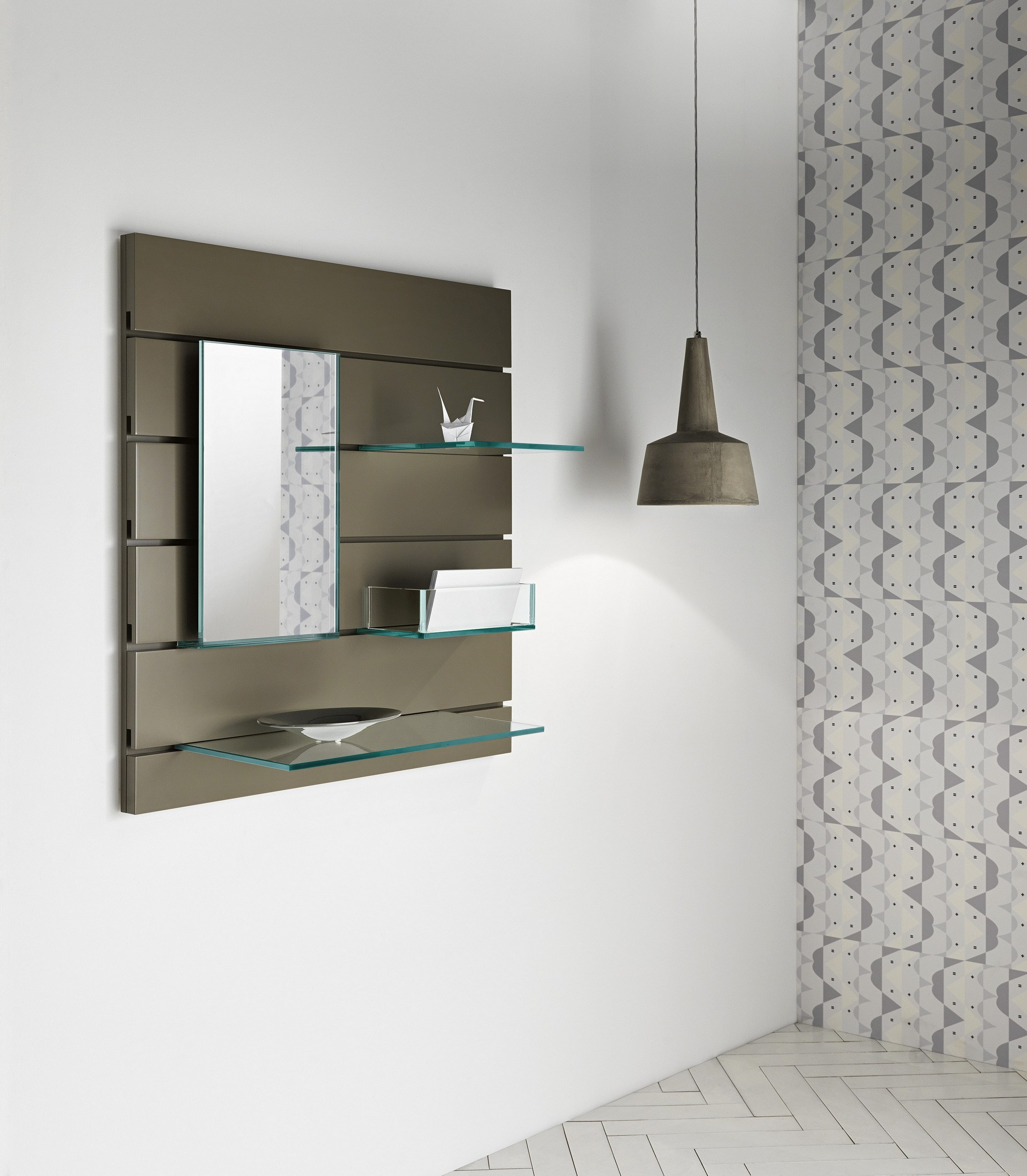 Specchio Mensola In Vetro In Fila By T D Tonelli Design