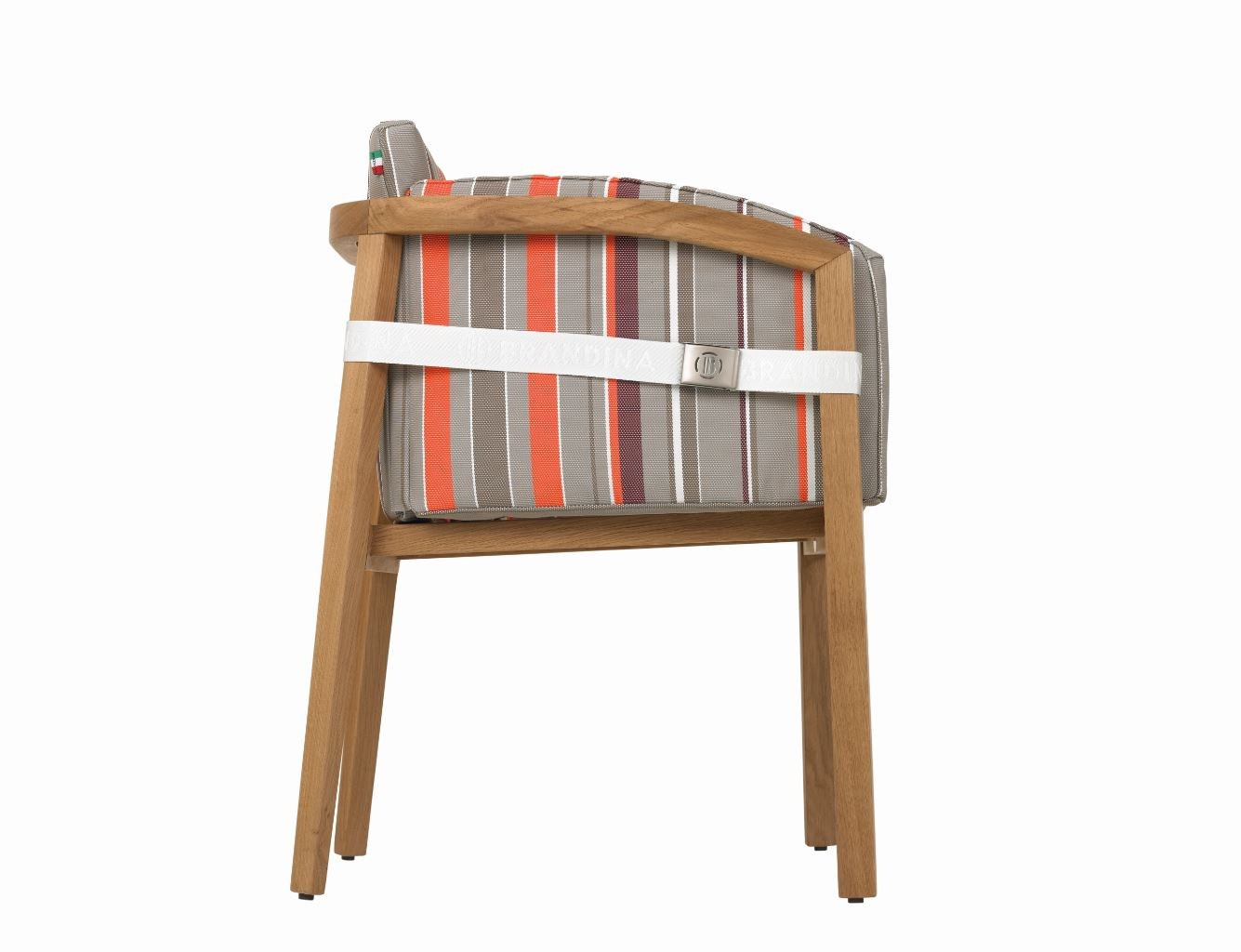Upholstered stackable easy chair with armrests if by il for Il giardino di legno