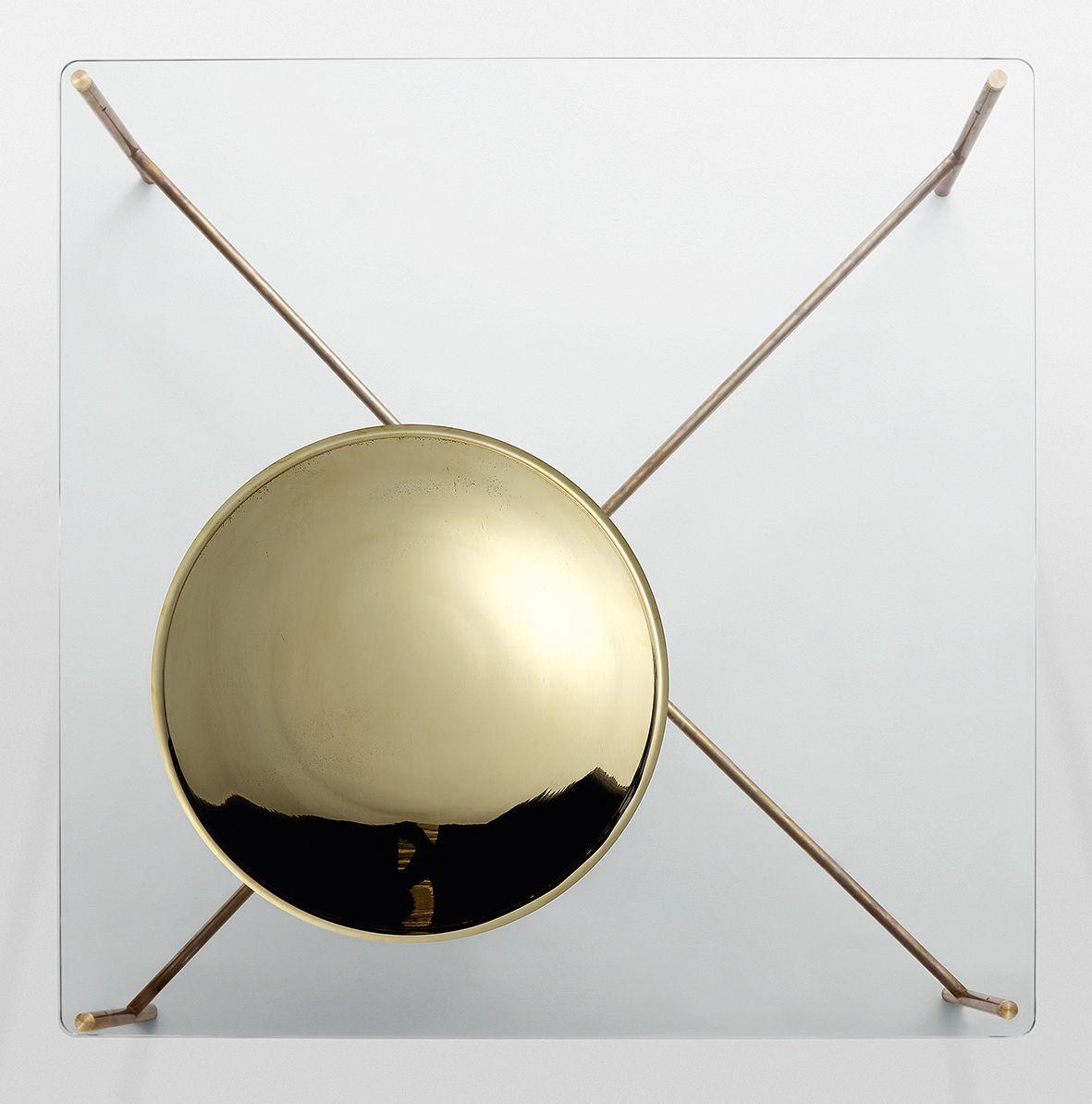 GOLDEN MOON Tavolino quadrato by Gallotti&Radice design Massimo ...