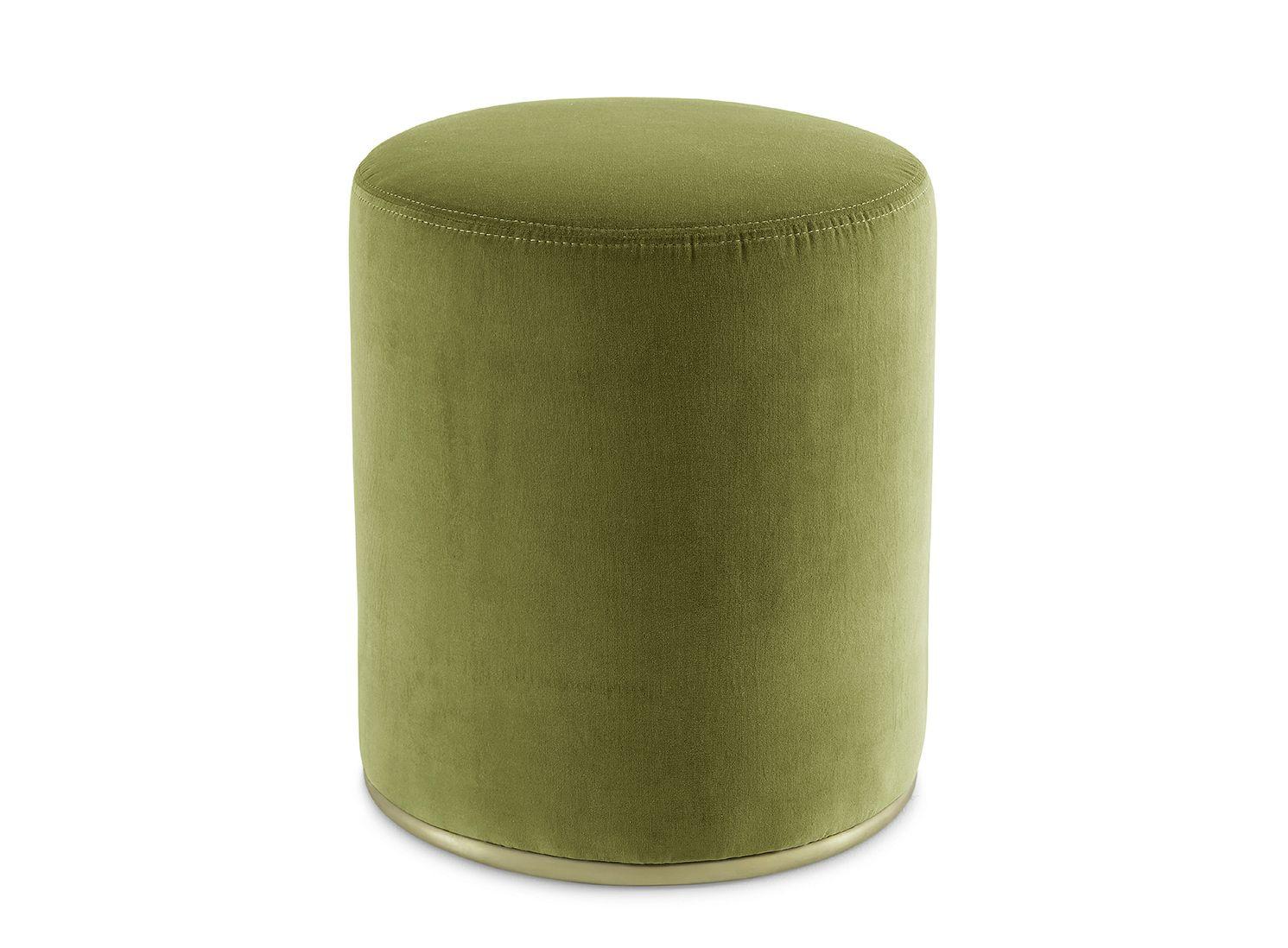 pouf rembourr en velours lou by gallotti radice design studio g r. Black Bedroom Furniture Sets. Home Design Ideas