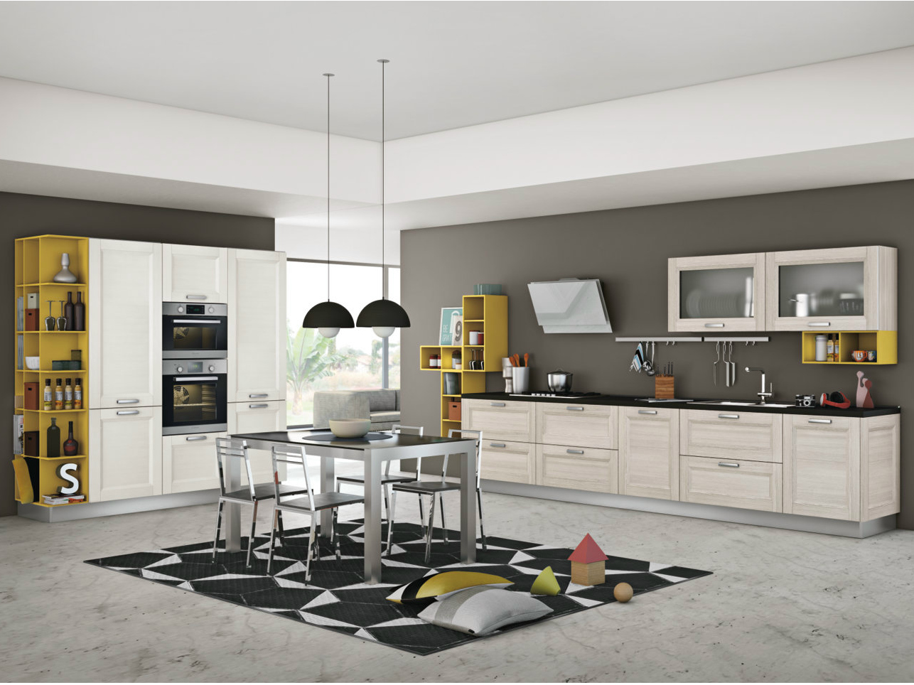Cuisine int gr e lin aire avec barre mya by creo kitchens for Cuisine 3d solidworks