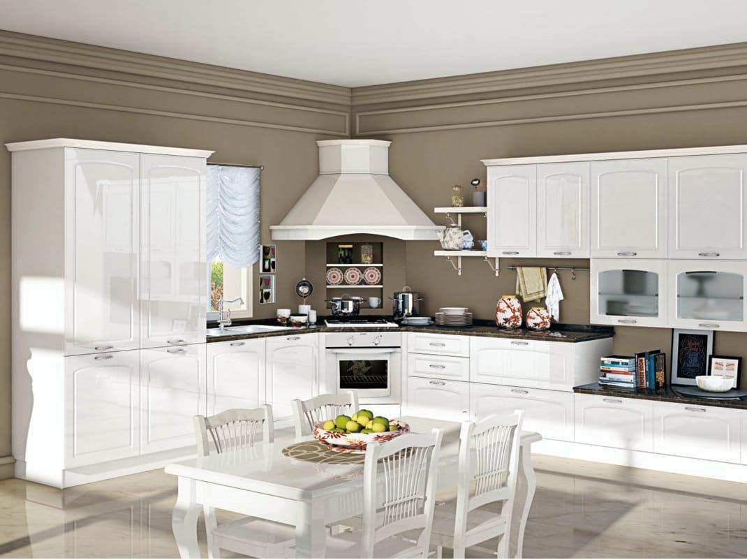 Cucina componibile lineare con maniglie elin by creo kitchens by lube - Maniglie mobili cucina ...