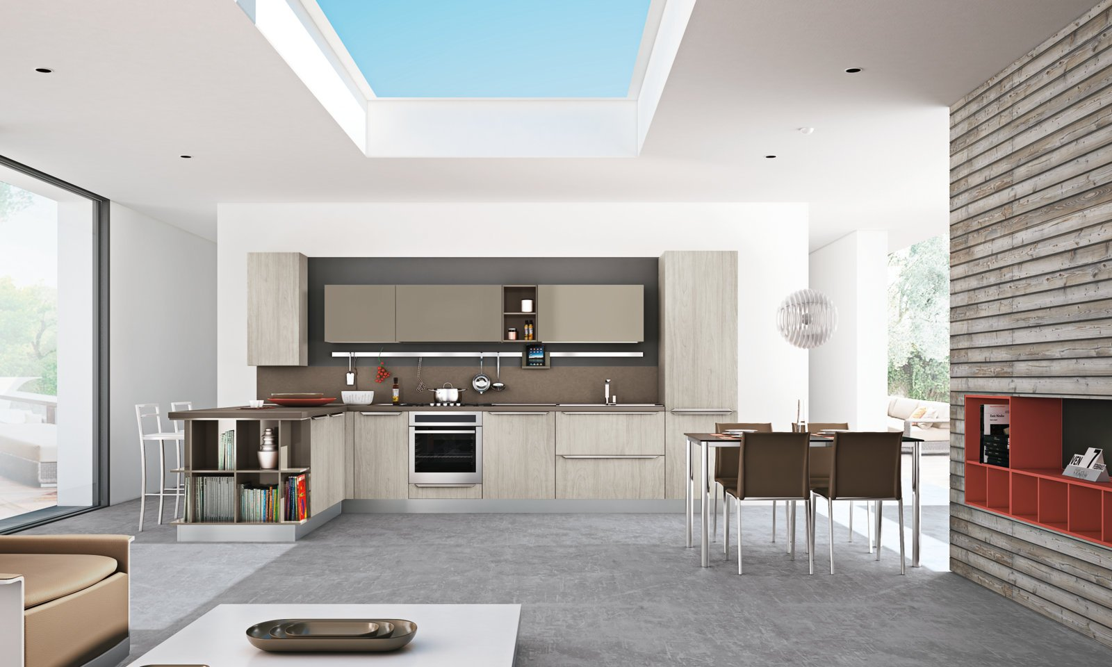 Cucina componibile con penisola gayla creo kitchens by - Cucina con penisola ...
