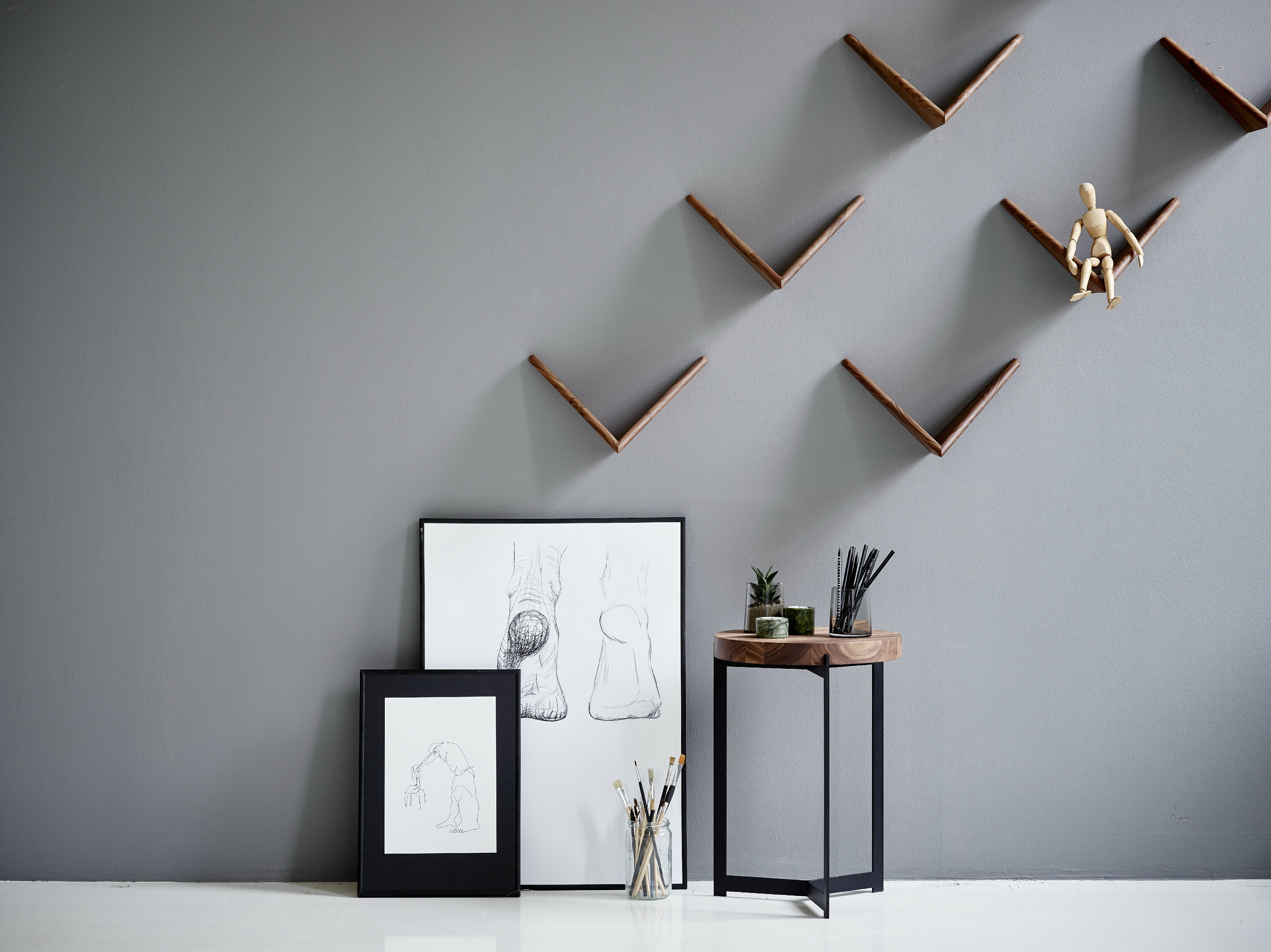 wandregal aus holz cadovius butterfly shelf by dk3 design poul cadovius. Black Bedroom Furniture Sets. Home Design Ideas