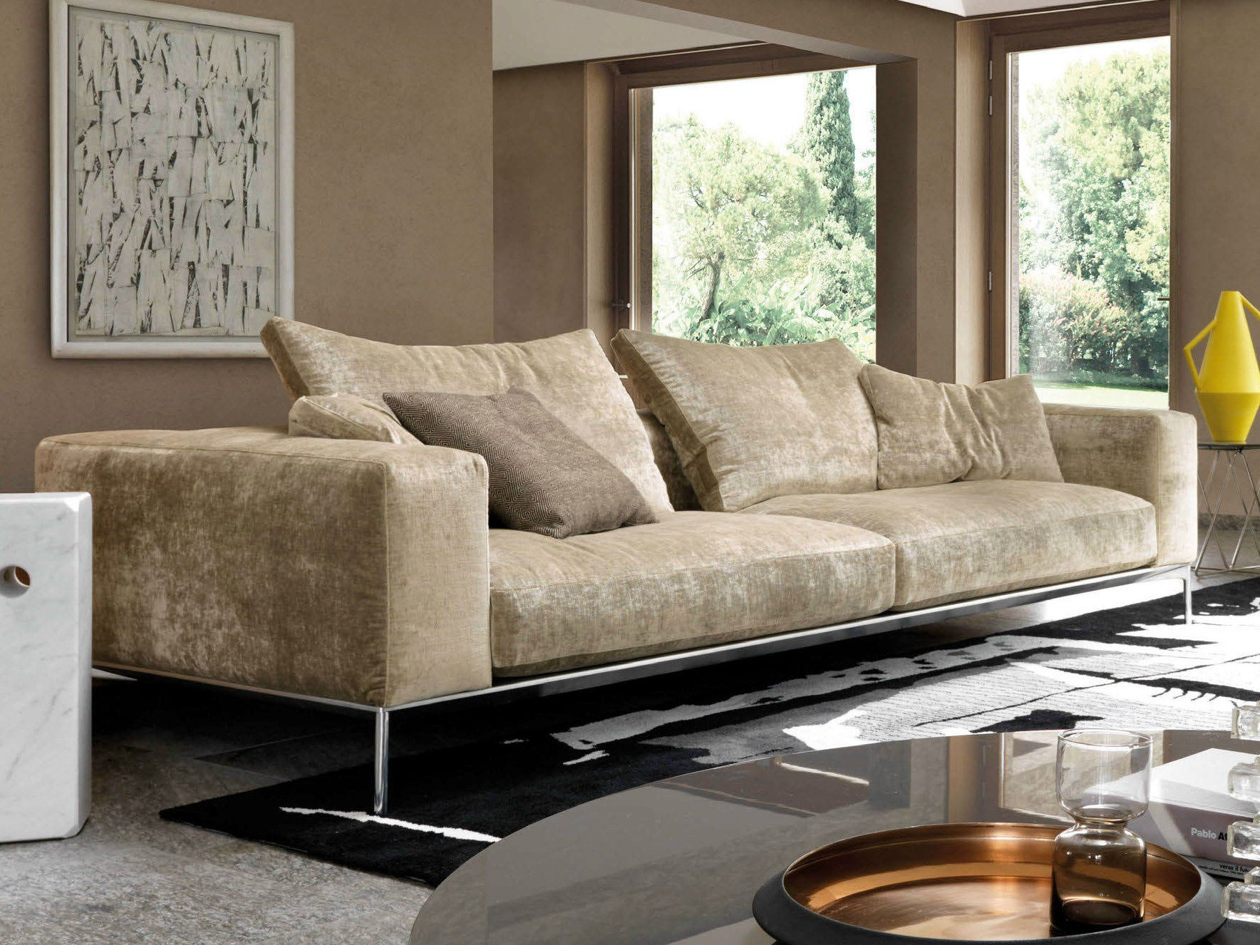 sofa with removable cover savoye by d sir e design marc sadler. Black Bedroom Furniture Sets. Home Design Ideas