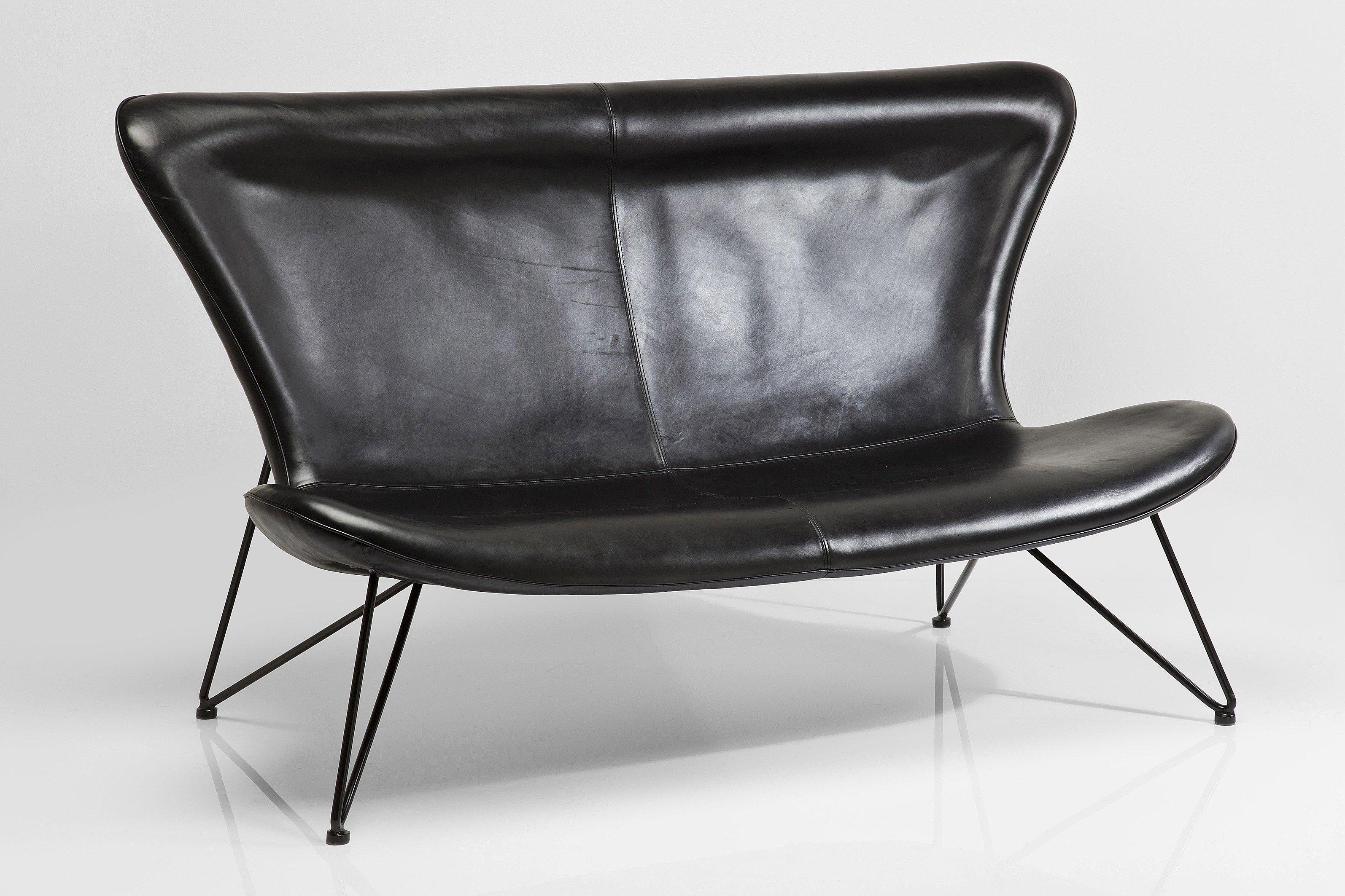 2 er sofa mit hoher r ckenlehne miami black by kare design. Black Bedroom Furniture Sets. Home Design Ideas