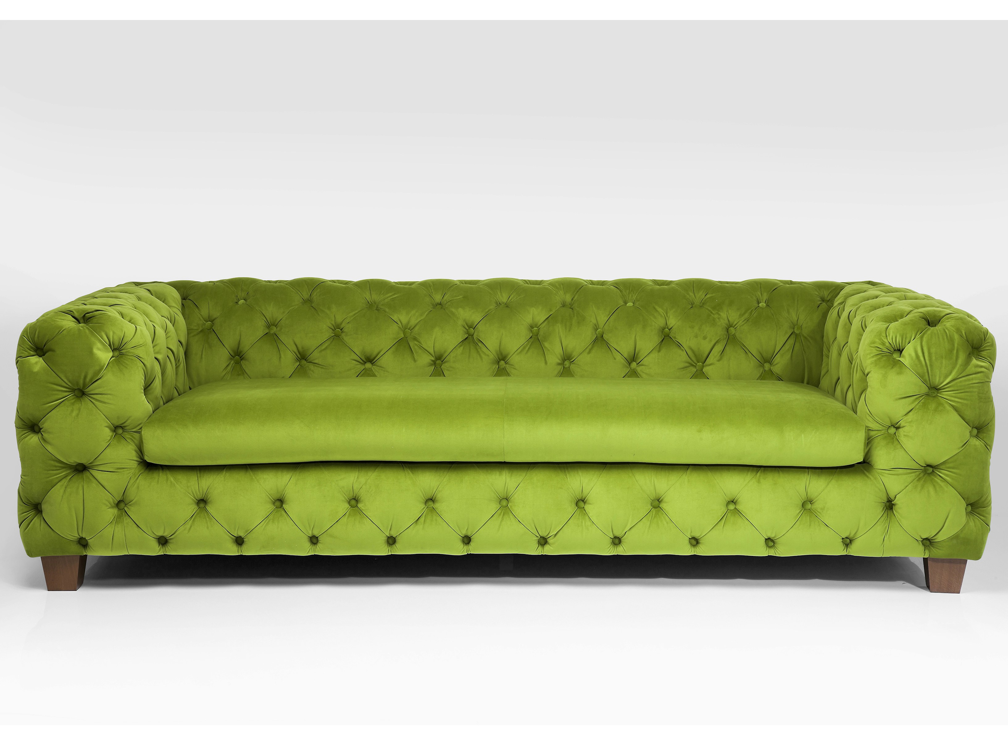 3 Seater Tufted Fabric Sofa My Desire Green By Kare Design