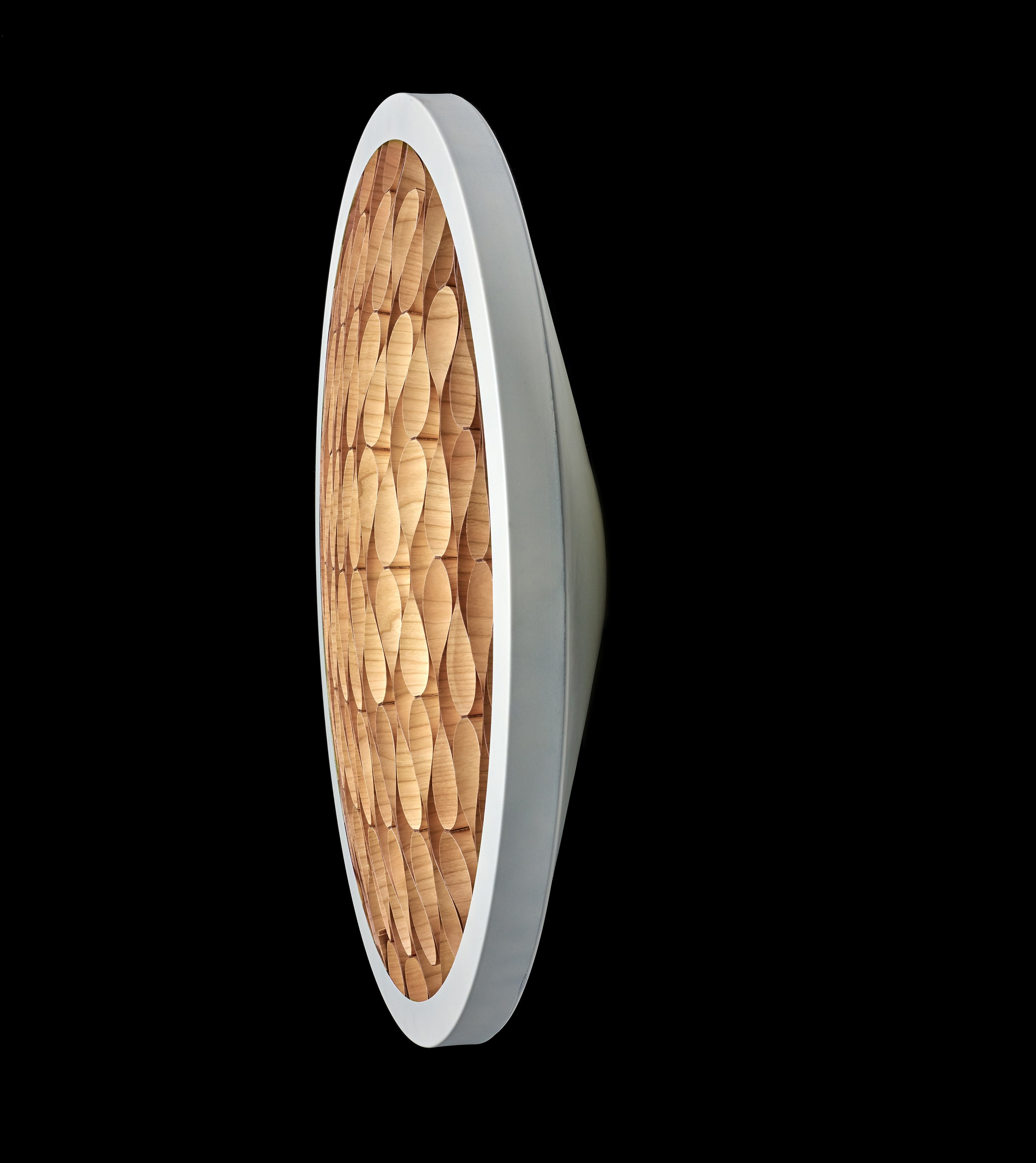 LED handmade wood veneer wall light CERVANTES A by LZF design Burkhard Dammer