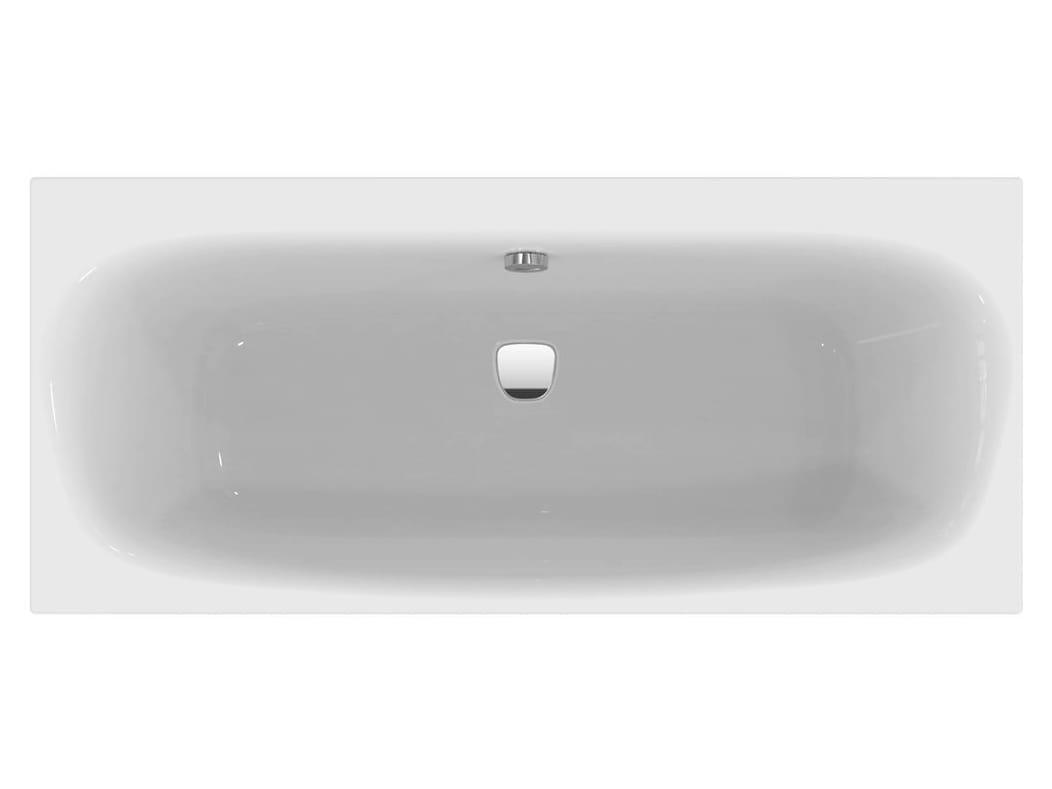 Vasca da bagno rettangolare in ceramica da incasso dea e3061 by ideal standard italia for Vasca da bagno prezzi ideal standard