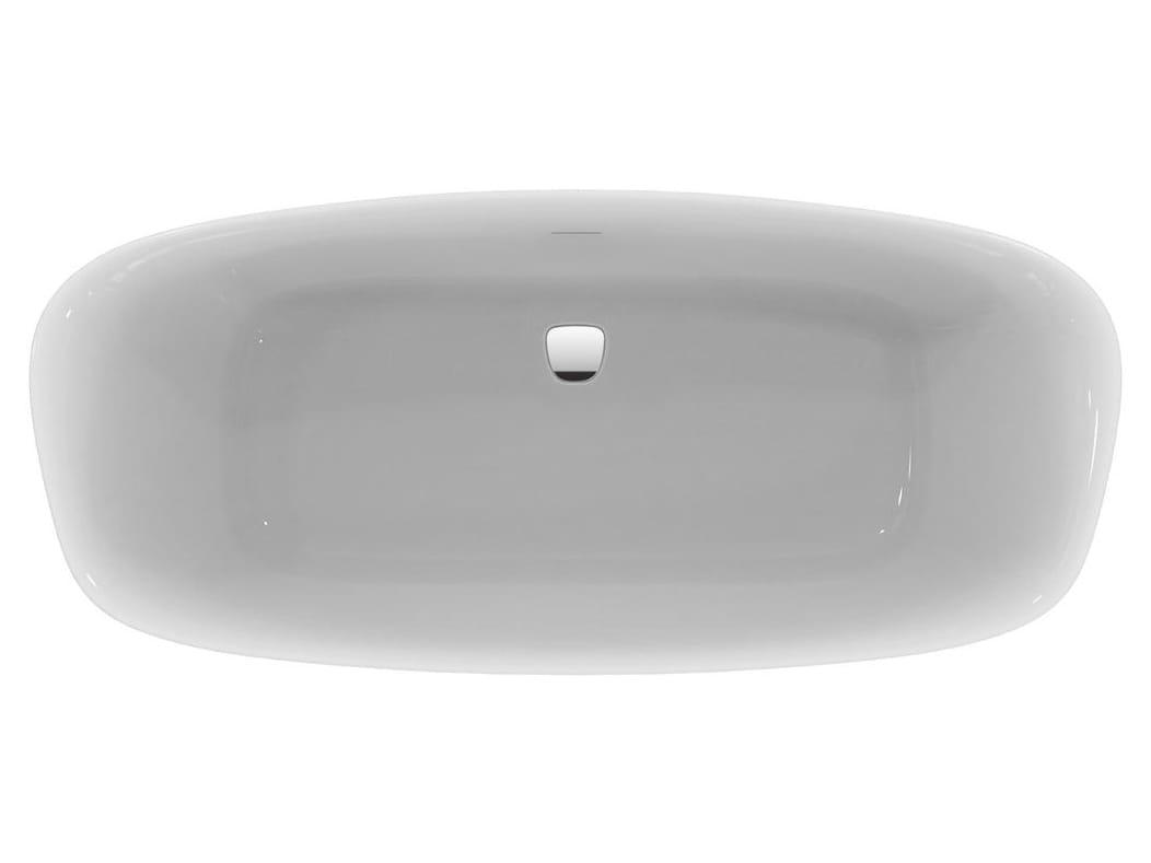 Vasca da bagno centro stanza in ceramica dea e3067 by ideal standard italia - Vasca da bagno ceramica ...