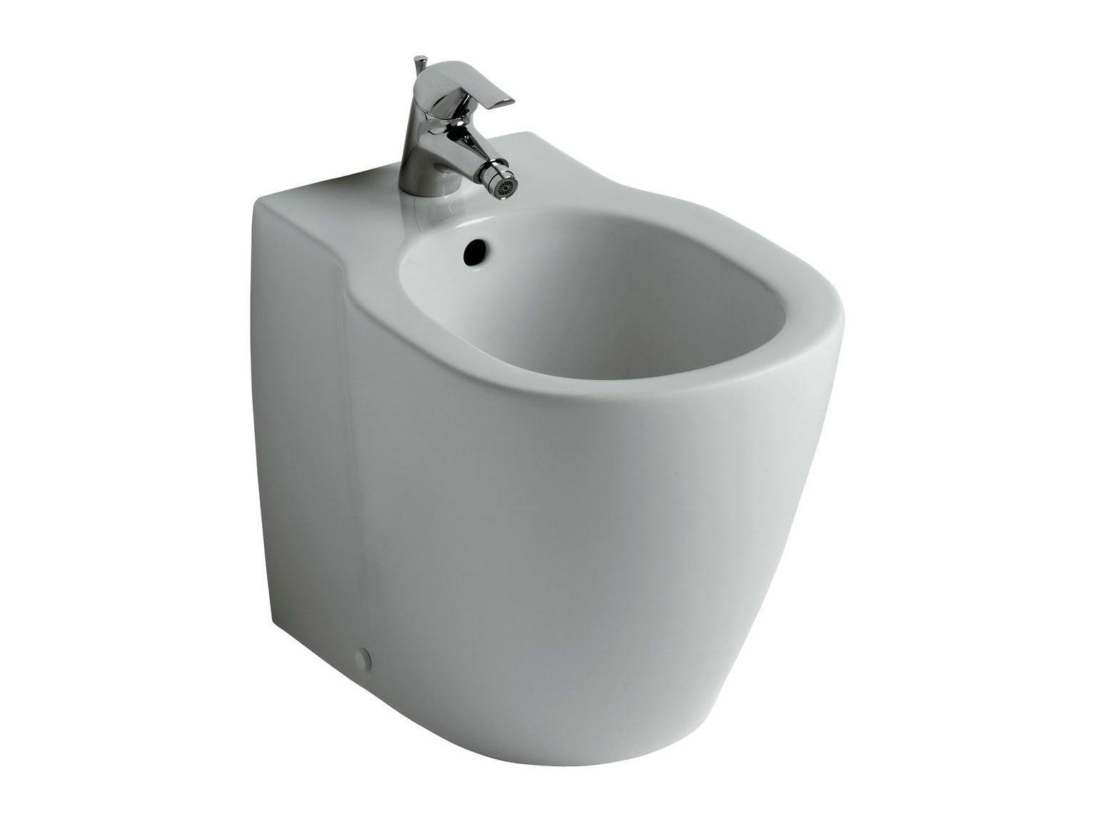 Bidet monoforo a terra filo parete connect e7995 by ideal standard italia - Sanitari filo parete prezzi ...