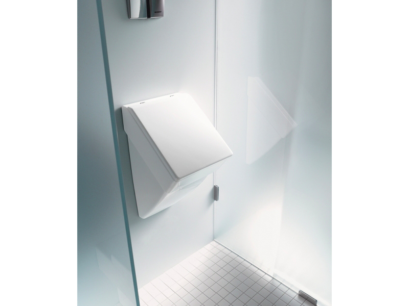 suspended ceramic urinal vero collection by duravit italia. Black Bedroom Furniture Sets. Home Design Ideas