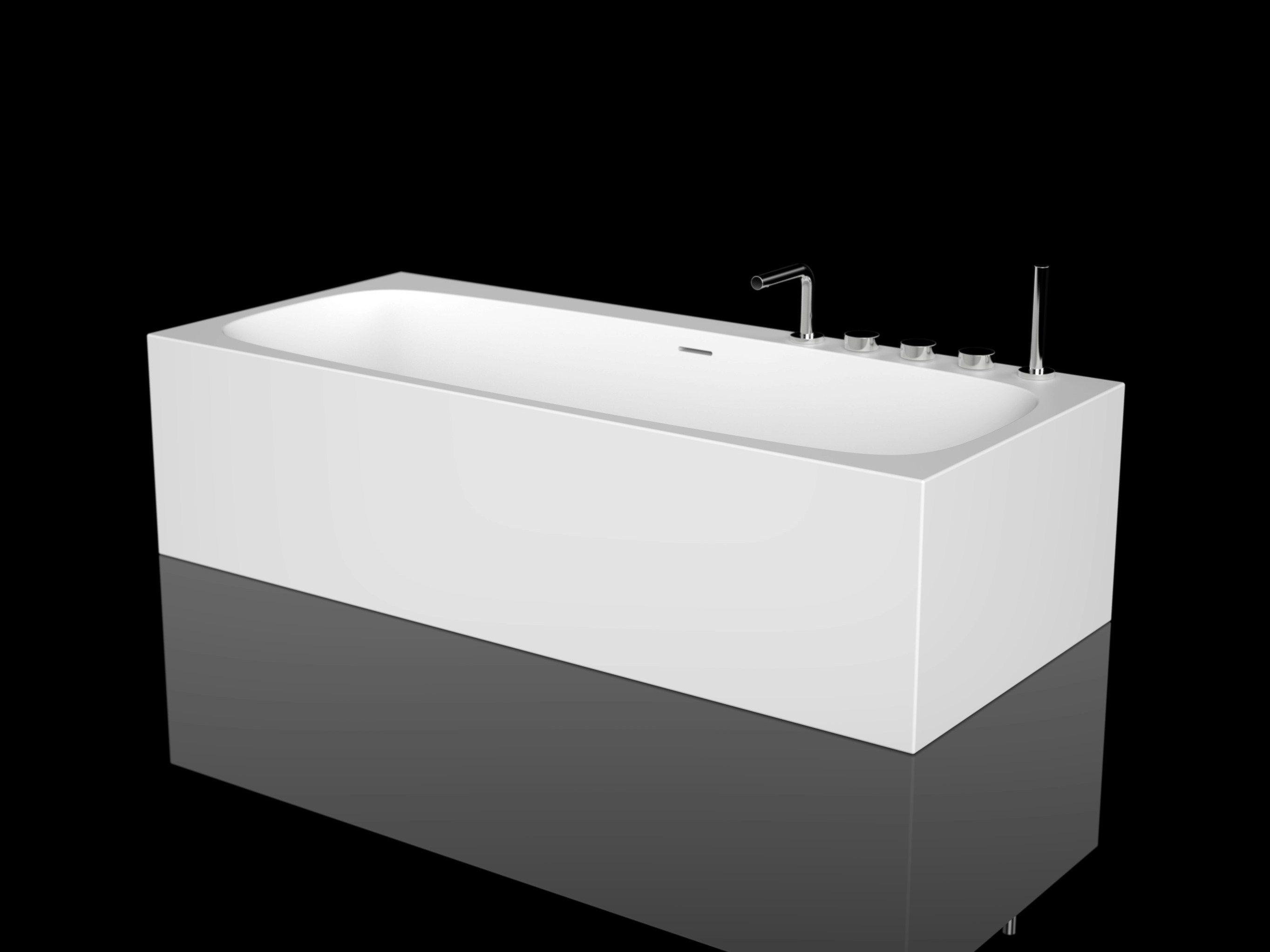 Baignoire rectangulaire en cristalplant ark by boffi - Rivestire la vasca da bagno ...