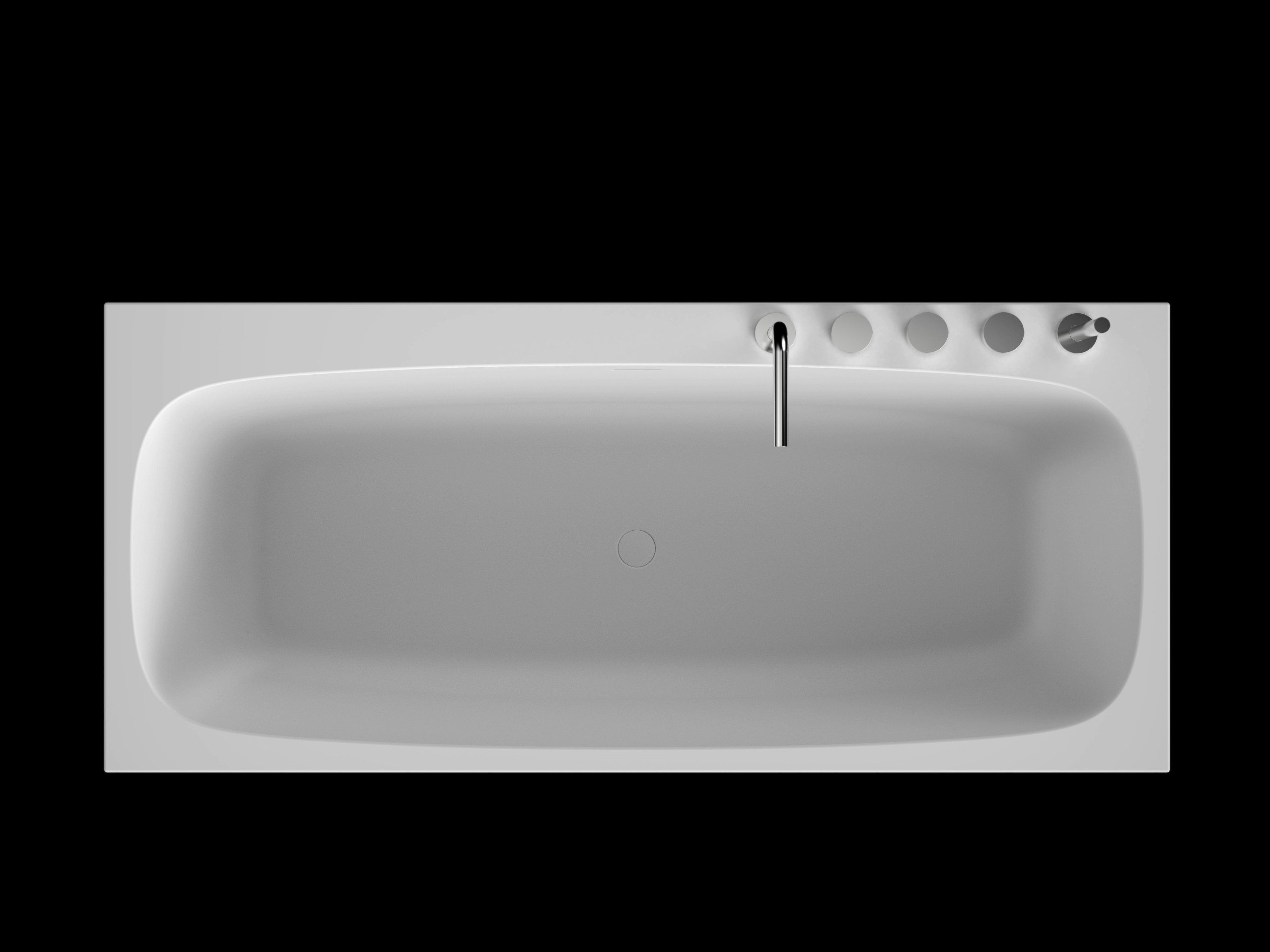 Rectangular cristalplant bathtub ark by boffi design for Bathroom 2d planner