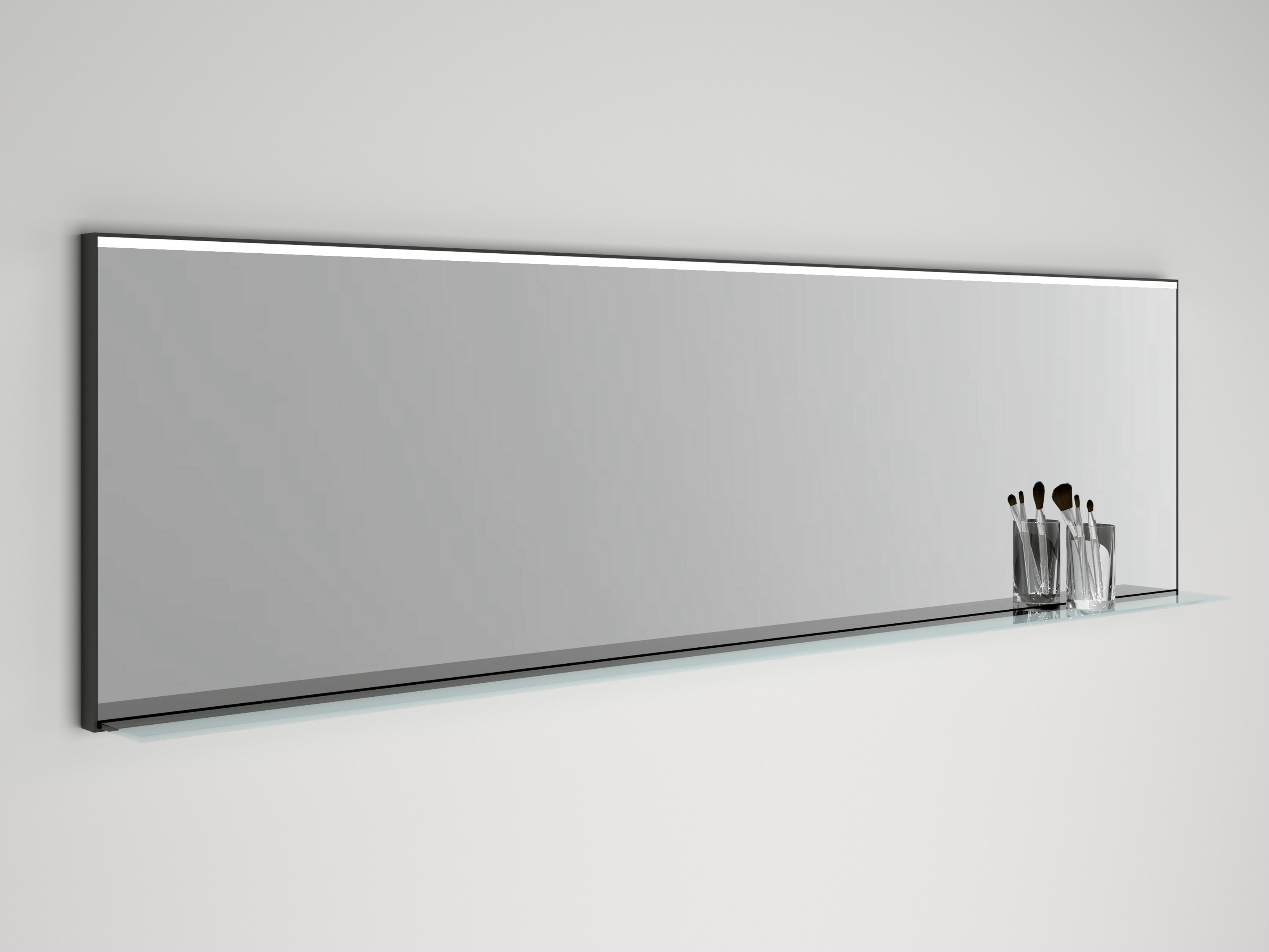 Miroir mural avec clairage int gr led line by boffi for Miroir eclairage integre