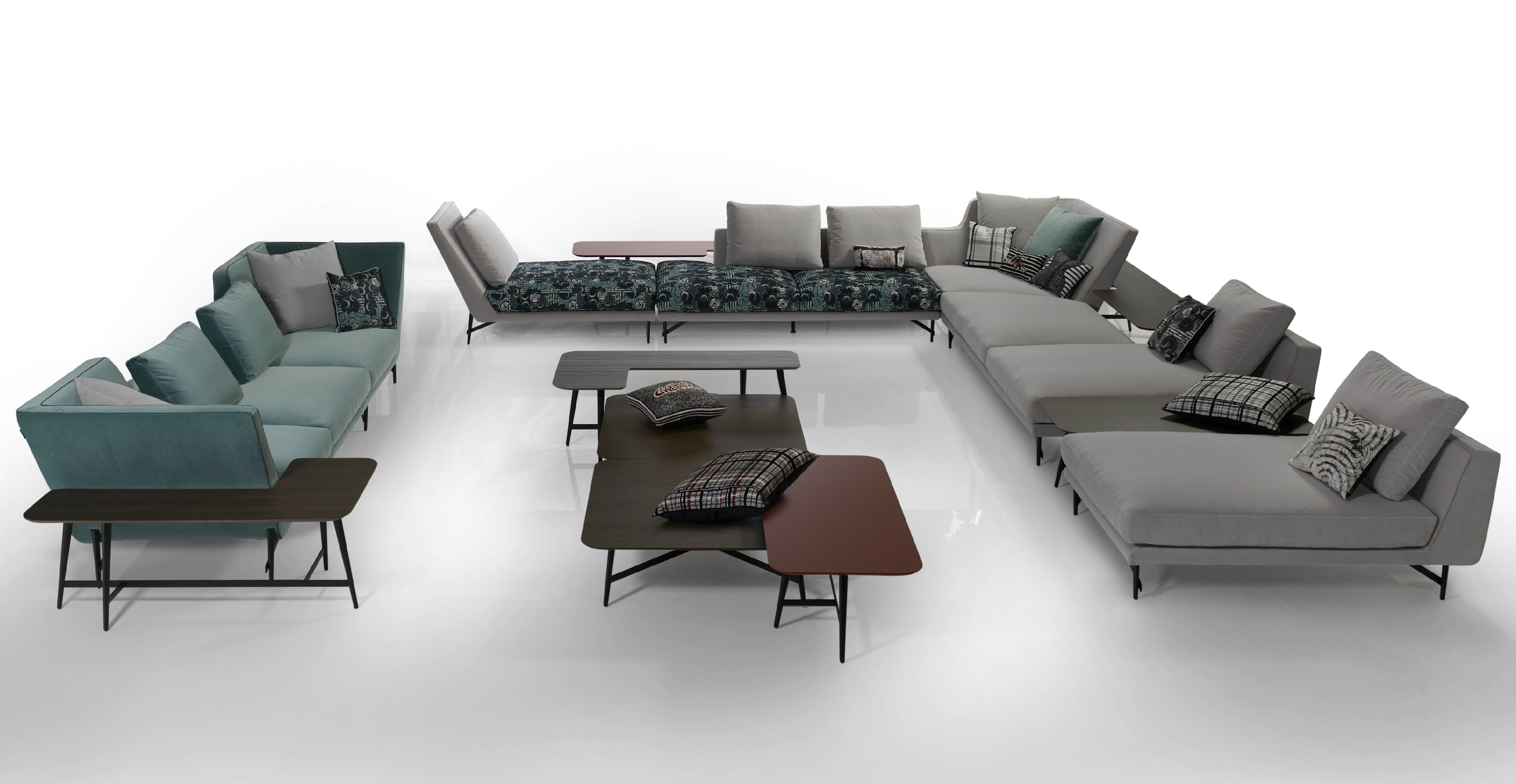 Seater fabric sofa with removable cover player by roche bobois