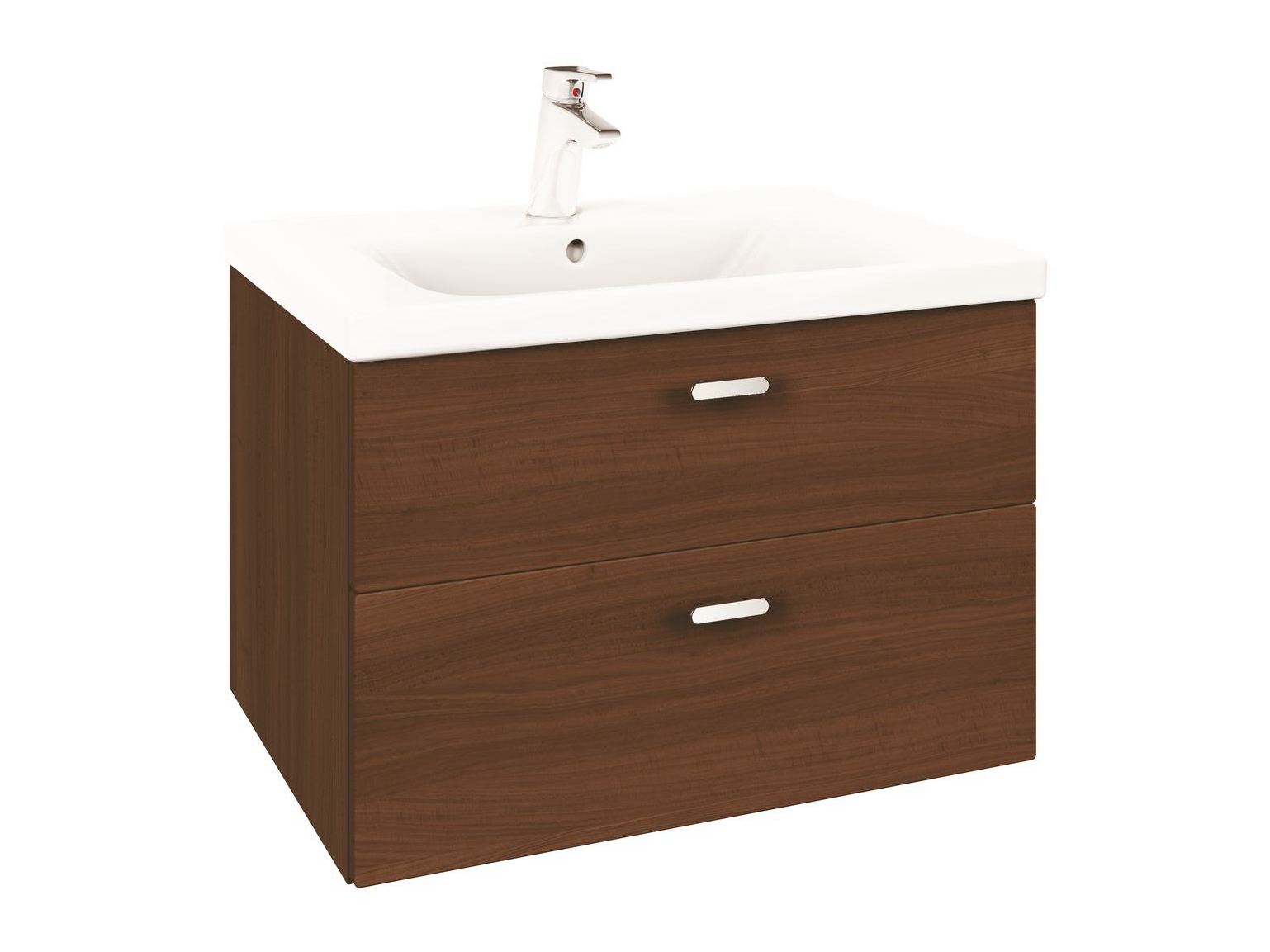 Mueble bajo lavabo simple suspendido con cajones connect for Bajo lavabo