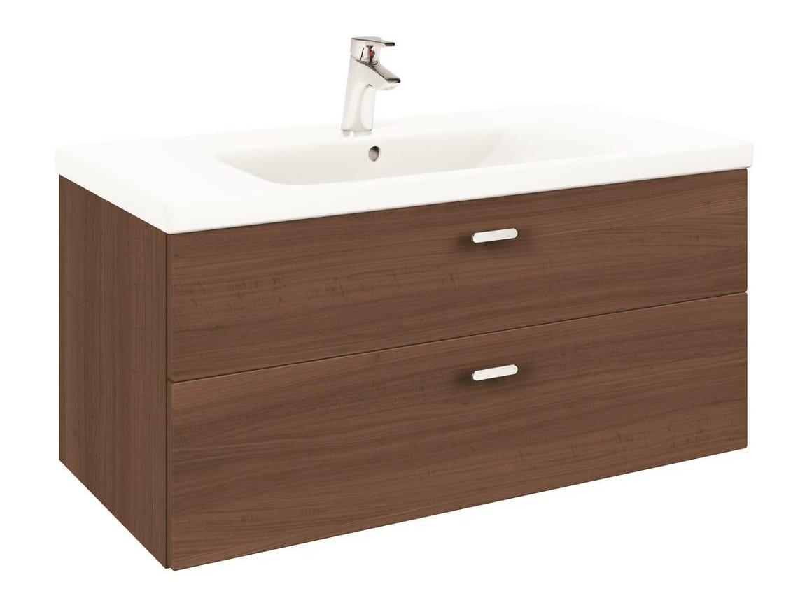 einzel h ngender waschtischunterschrank mit schubladen connect 100 cm e6511 kollektion. Black Bedroom Furniture Sets. Home Design Ideas