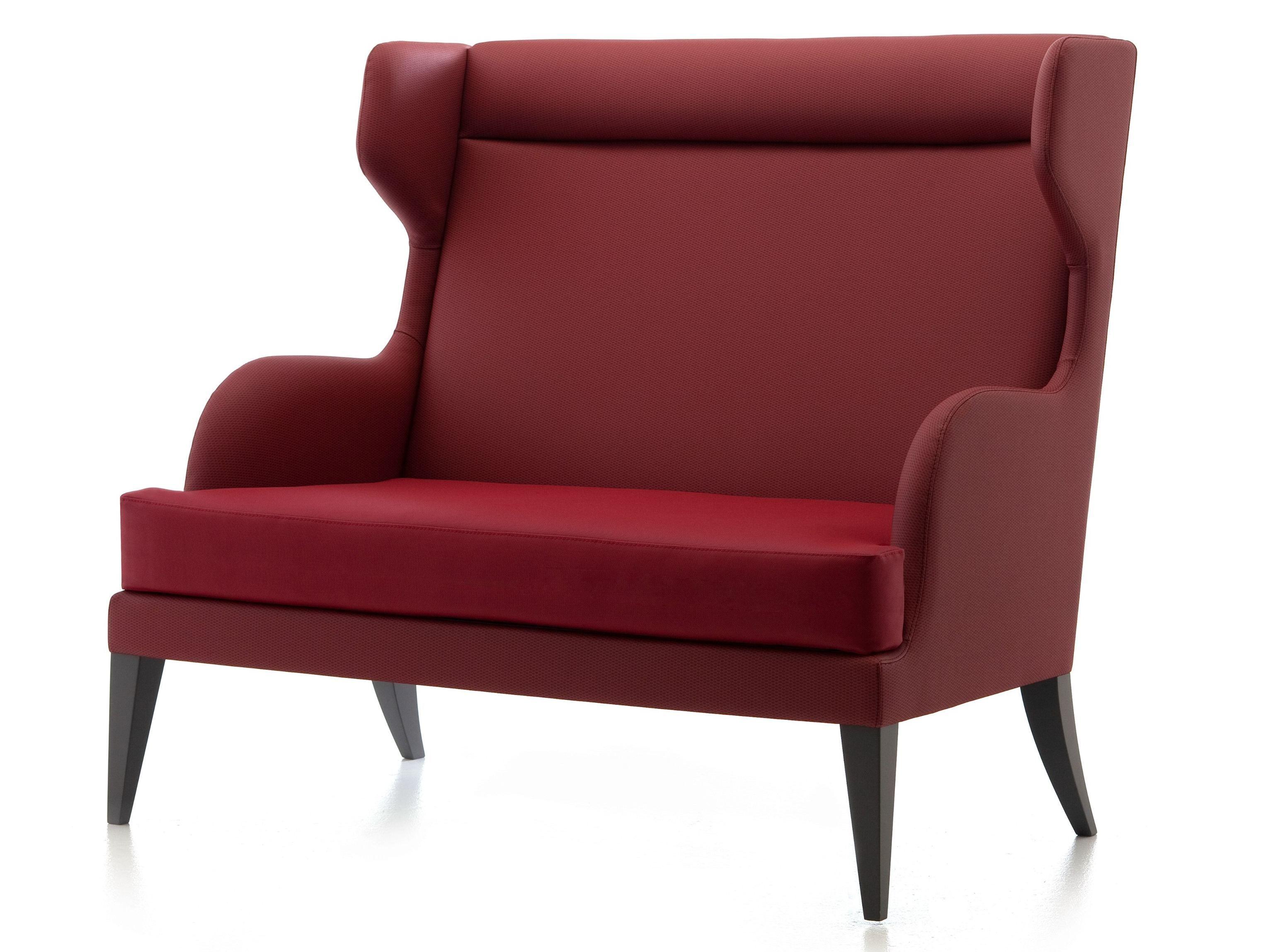 2 er sofa mit hoher r ckenlehne kollektion onda by very wood design werther toffoloni. Black Bedroom Furniture Sets. Home Design Ideas
