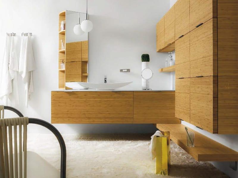 Meuble pour salle de bain suspendu avec rangement meuble for Rangement pour salle de bain