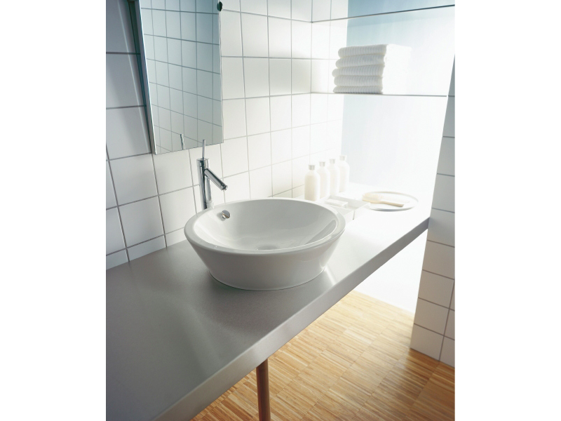countertop ceramic washbasin starck 1 collection by duravit italia design philippe starck. Black Bedroom Furniture Sets. Home Design Ideas