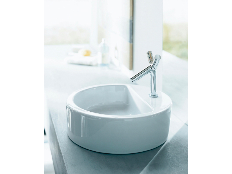 Starck 1 vasque poser by duravit design philippe starck - Vasque a poser duravit ...