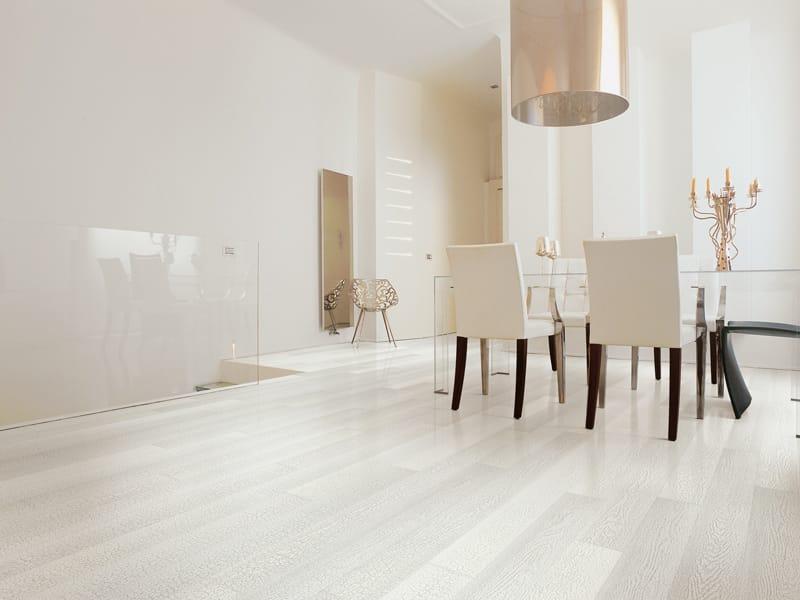 Parquet in multistrato skin by woodco for Pareti bianco perla