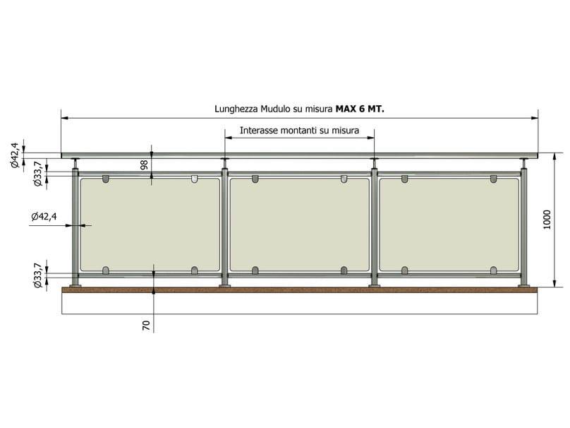 garde corps en acier et verre pour terrasse balcon perla by inox forniture. Black Bedroom Furniture Sets. Home Design Ideas