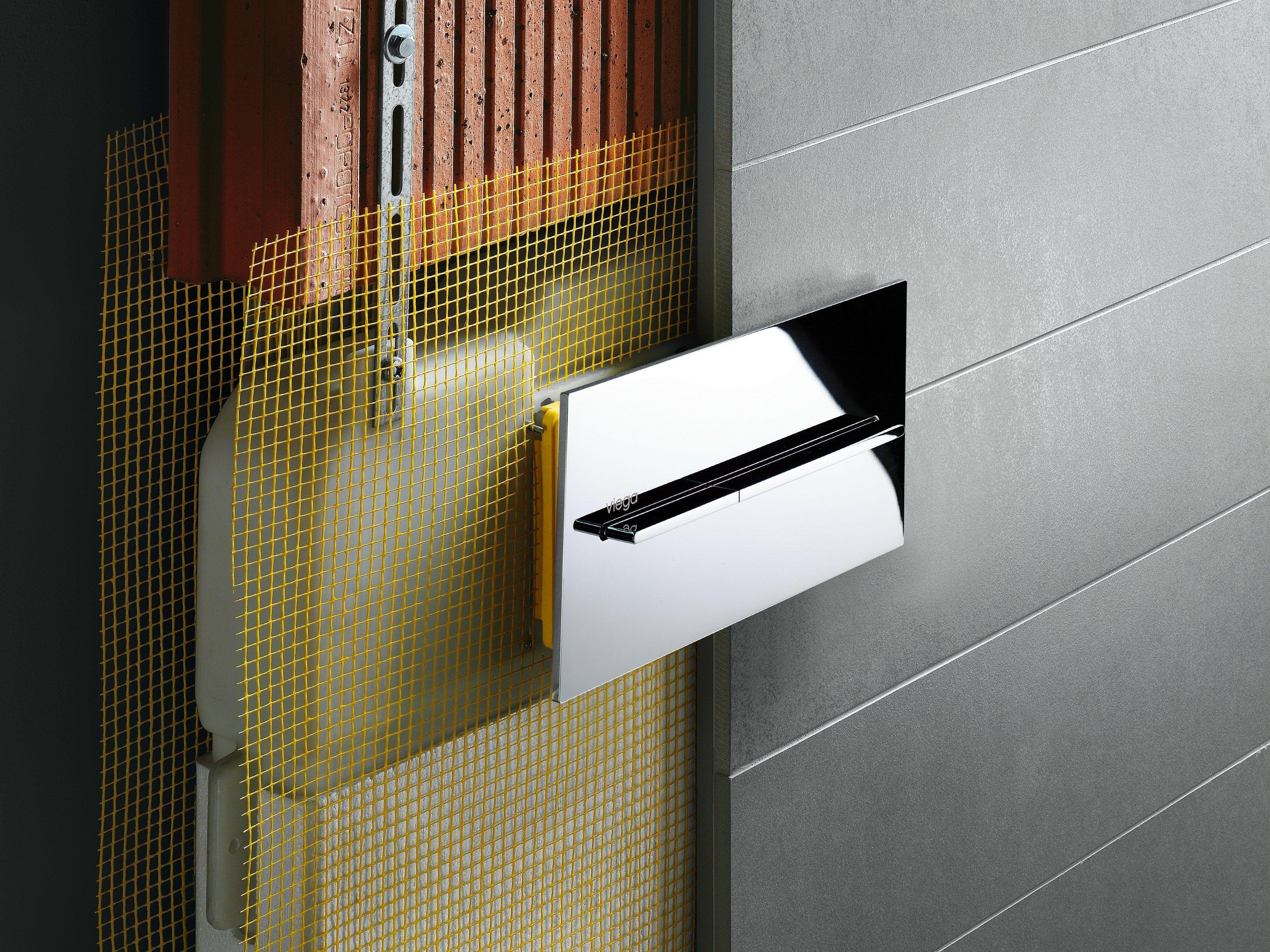 steel flush plate visign for more 104 by viega italia. Black Bedroom Furniture Sets. Home Design Ideas